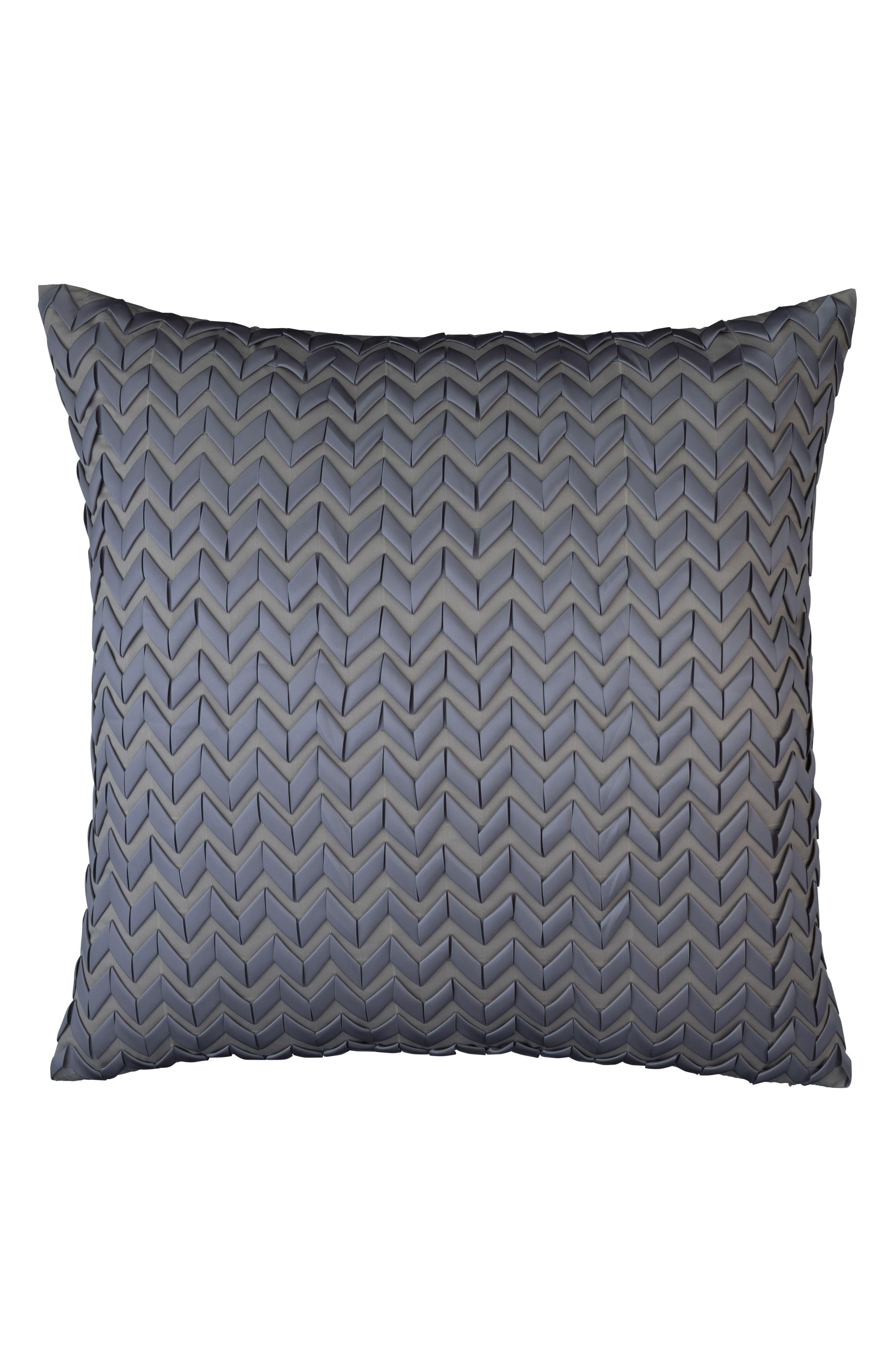 Ultra Ribbon Euro Accent Pillow,                         Main,                         color, GRAY