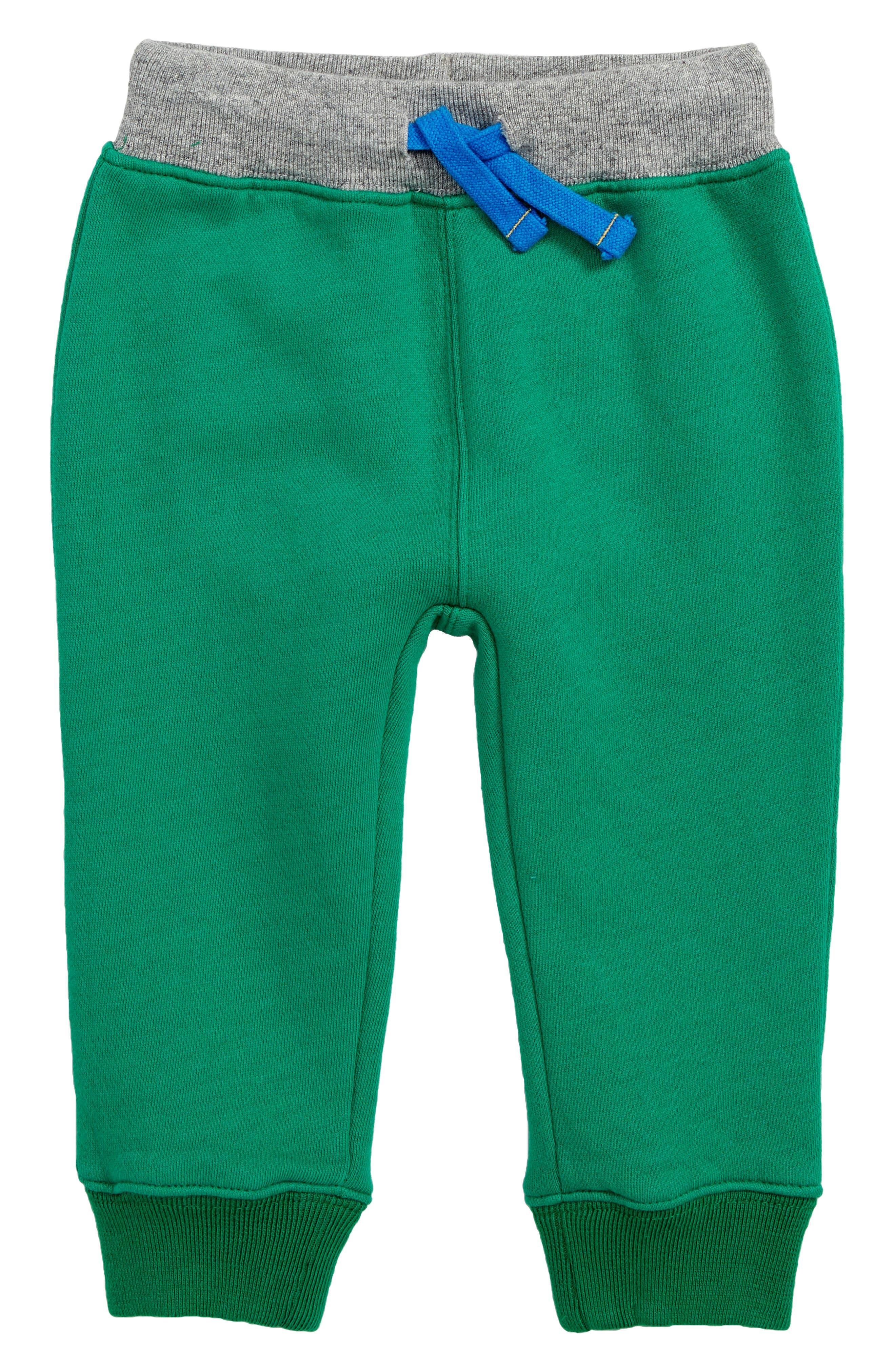 Toddler Boys Mini Boden Novelty Applique Sweatpants Size 34Y  Grey