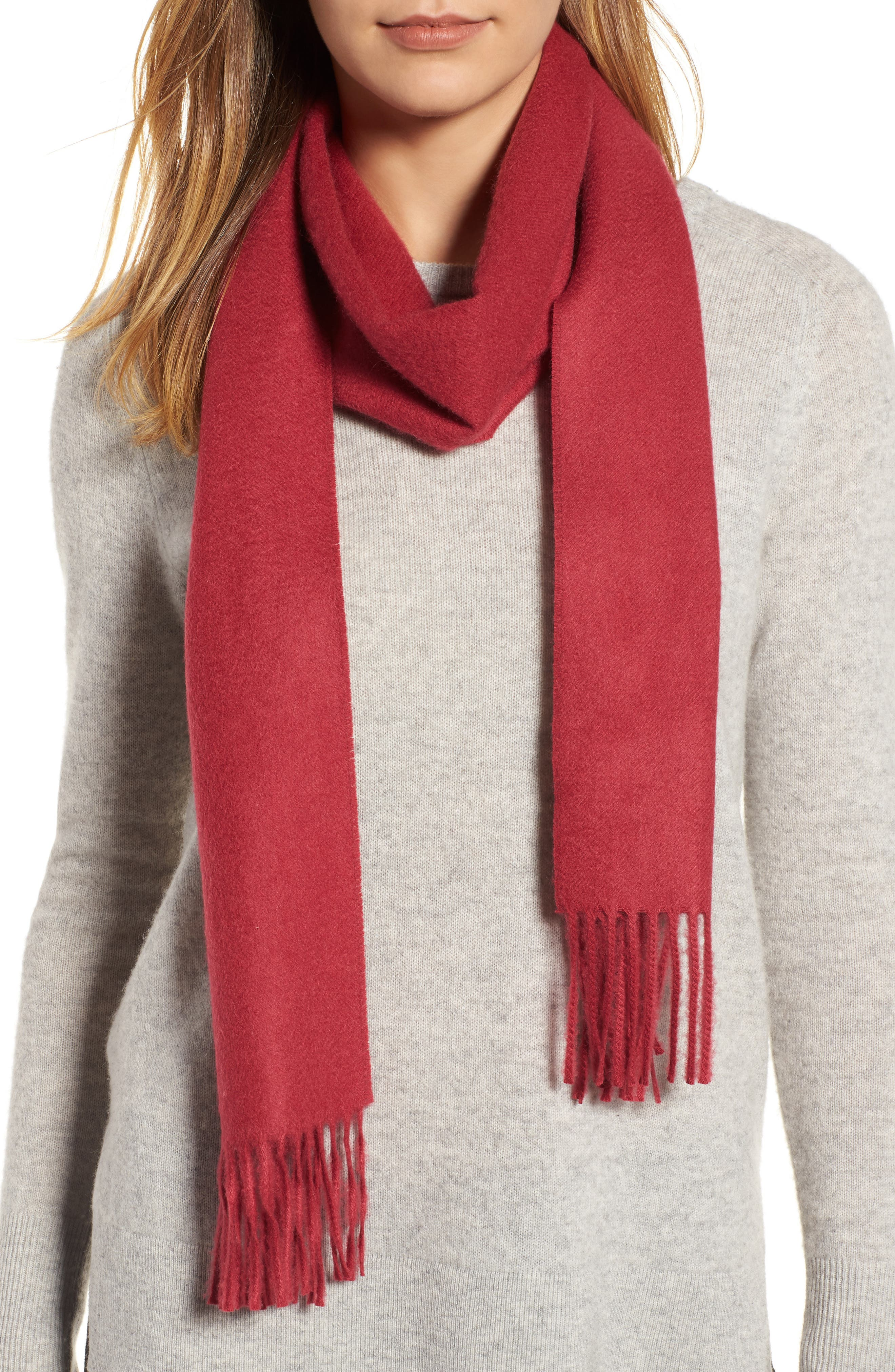 Solid Woven Cashmere Scarf,                             Alternate thumbnail 34, color,