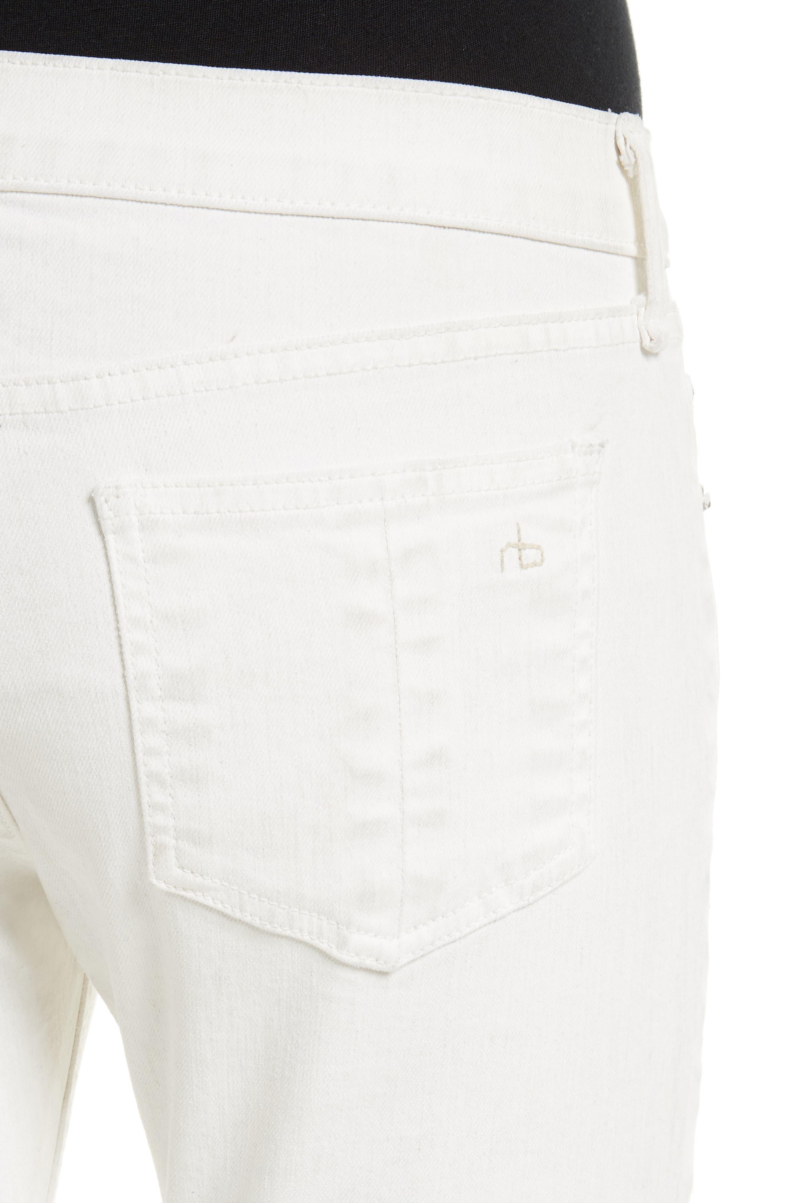 Capri Skinny Jeans,                             Alternate thumbnail 4, color,                             100