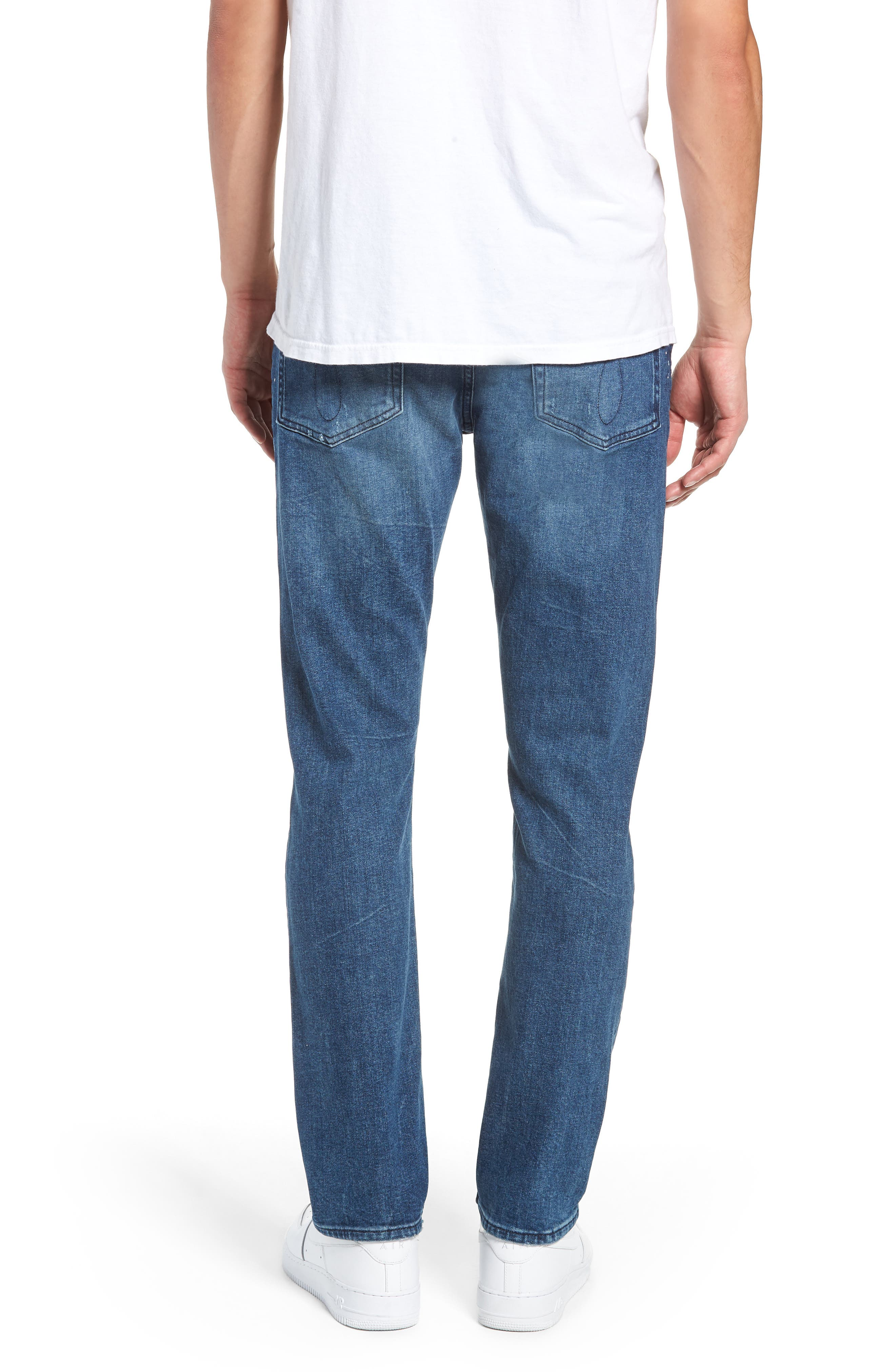 Calvin Klein Slim Fit Jeans,                             Alternate thumbnail 2, color,                             KINGPIN BLUE