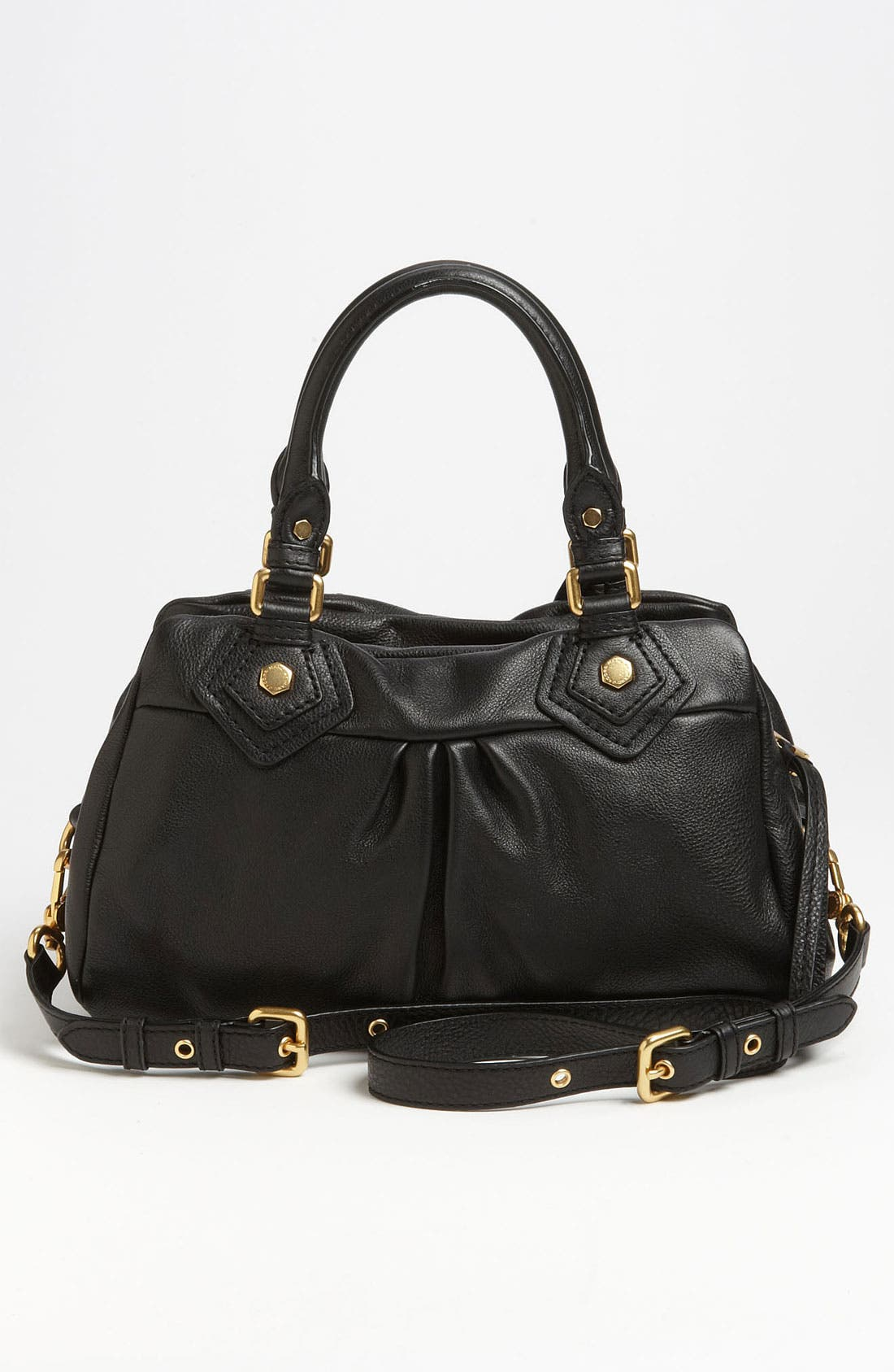 MARC BY MARC JACOBS 'Classic Q - Baby Groovee' Leather Satchel,                             Alternate thumbnail 3, color,                             002