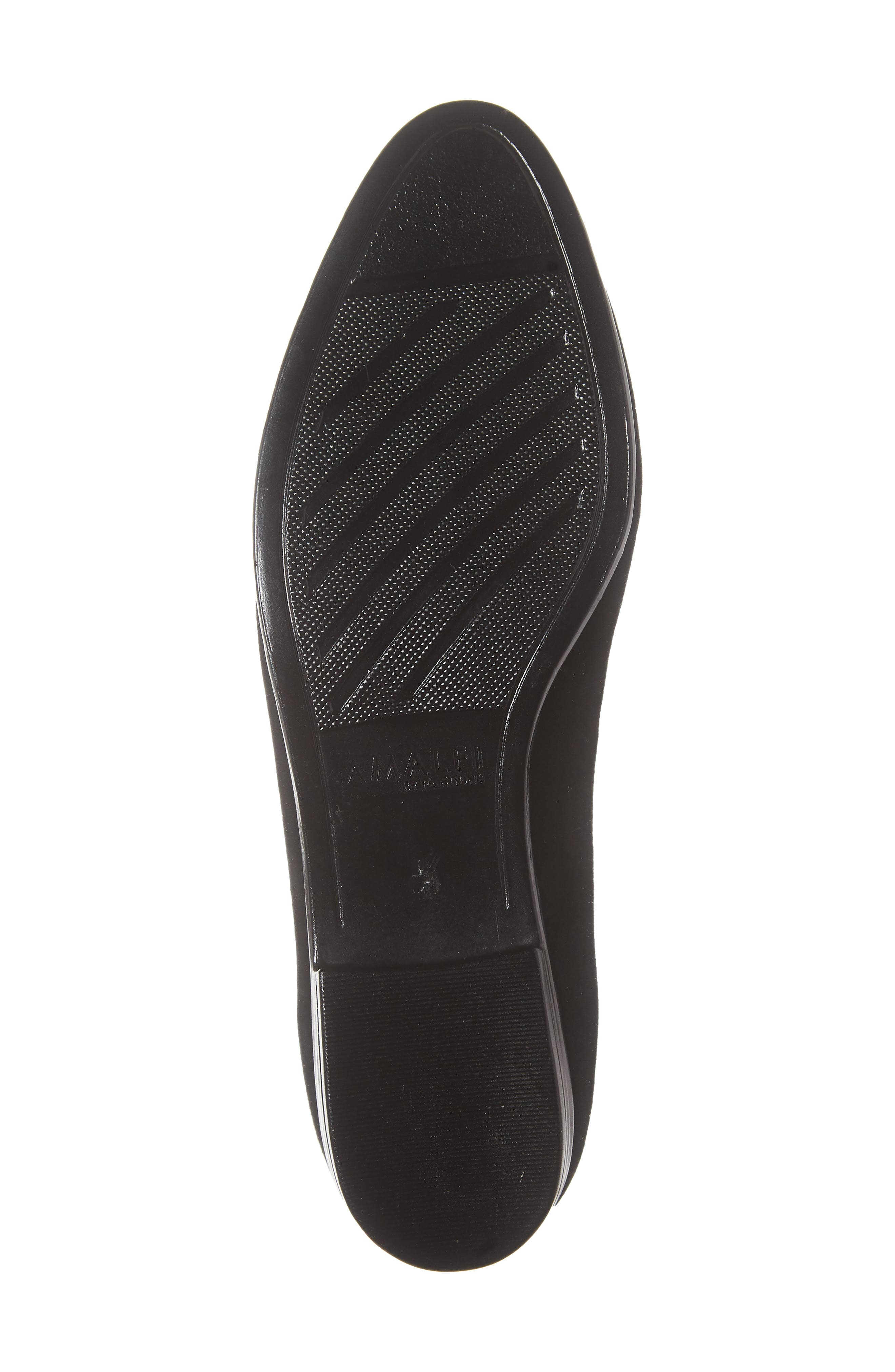 AMALFI BY RANGONI,                             Osimo X Perforated Loafer,                             Alternate thumbnail 6, color,                             BLACK SUEDE