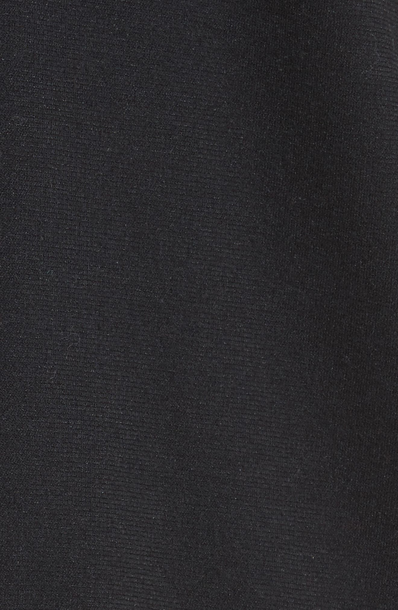 Deetra Rib Knit Trim Jacket,                             Alternate thumbnail 6, color,                             001
