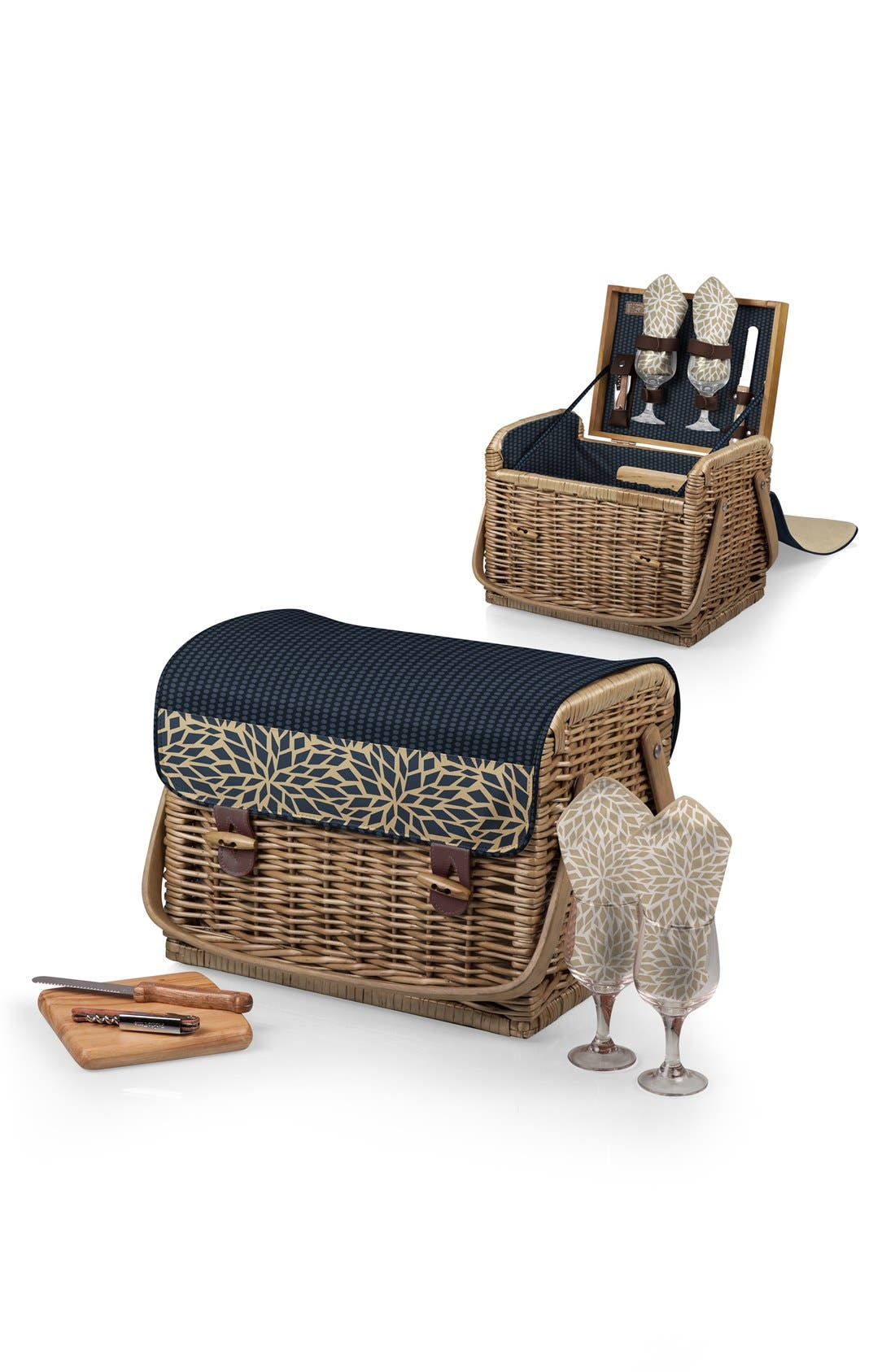 Picnic Time 'Kabrio' Wine & Cheese Picnic Basket,                             Alternate thumbnail 3, color,                             400