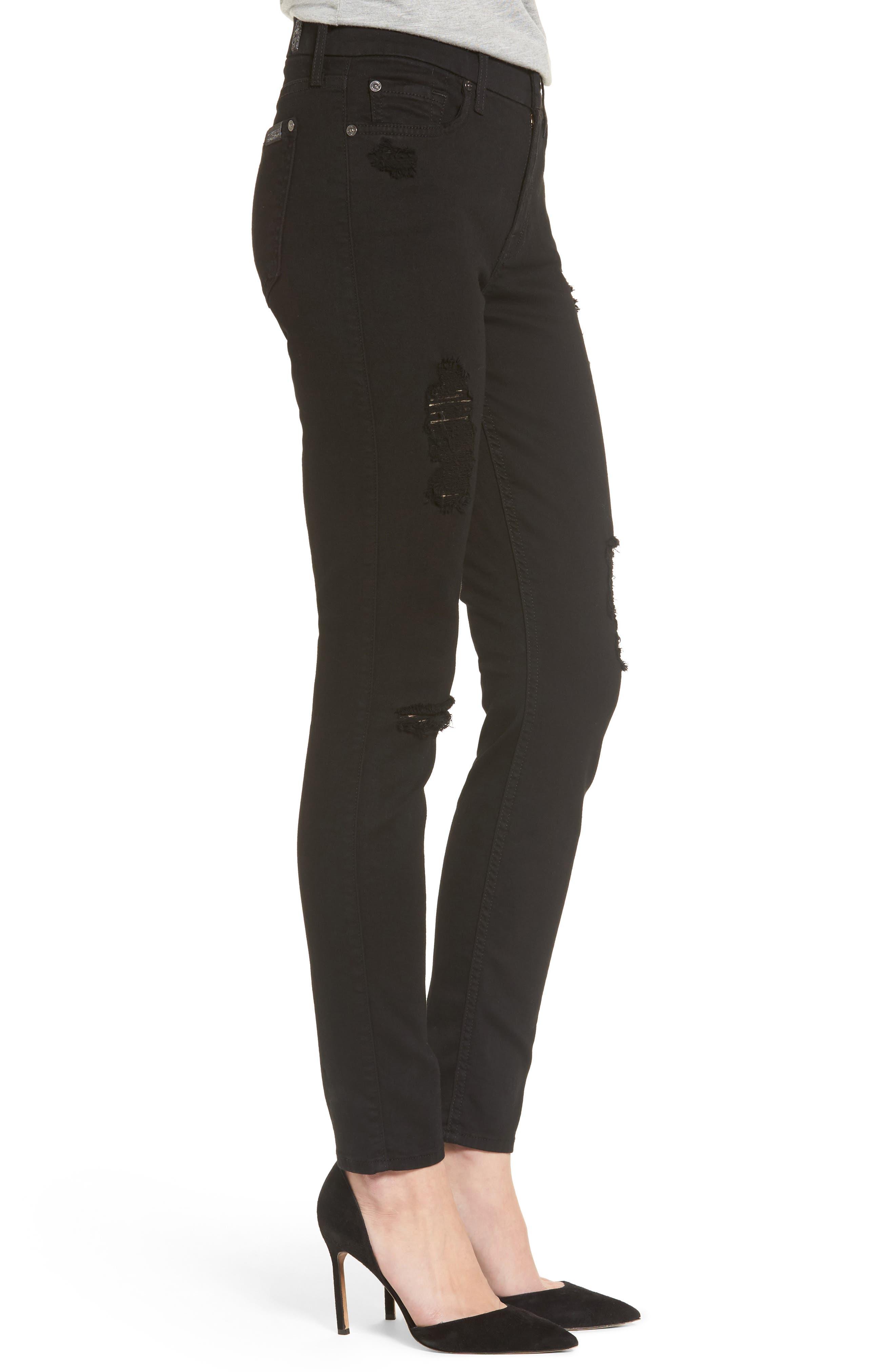 b(air) Ankle Skinny Jeans,                             Alternate thumbnail 3, color,                             BAIR BLACK 3