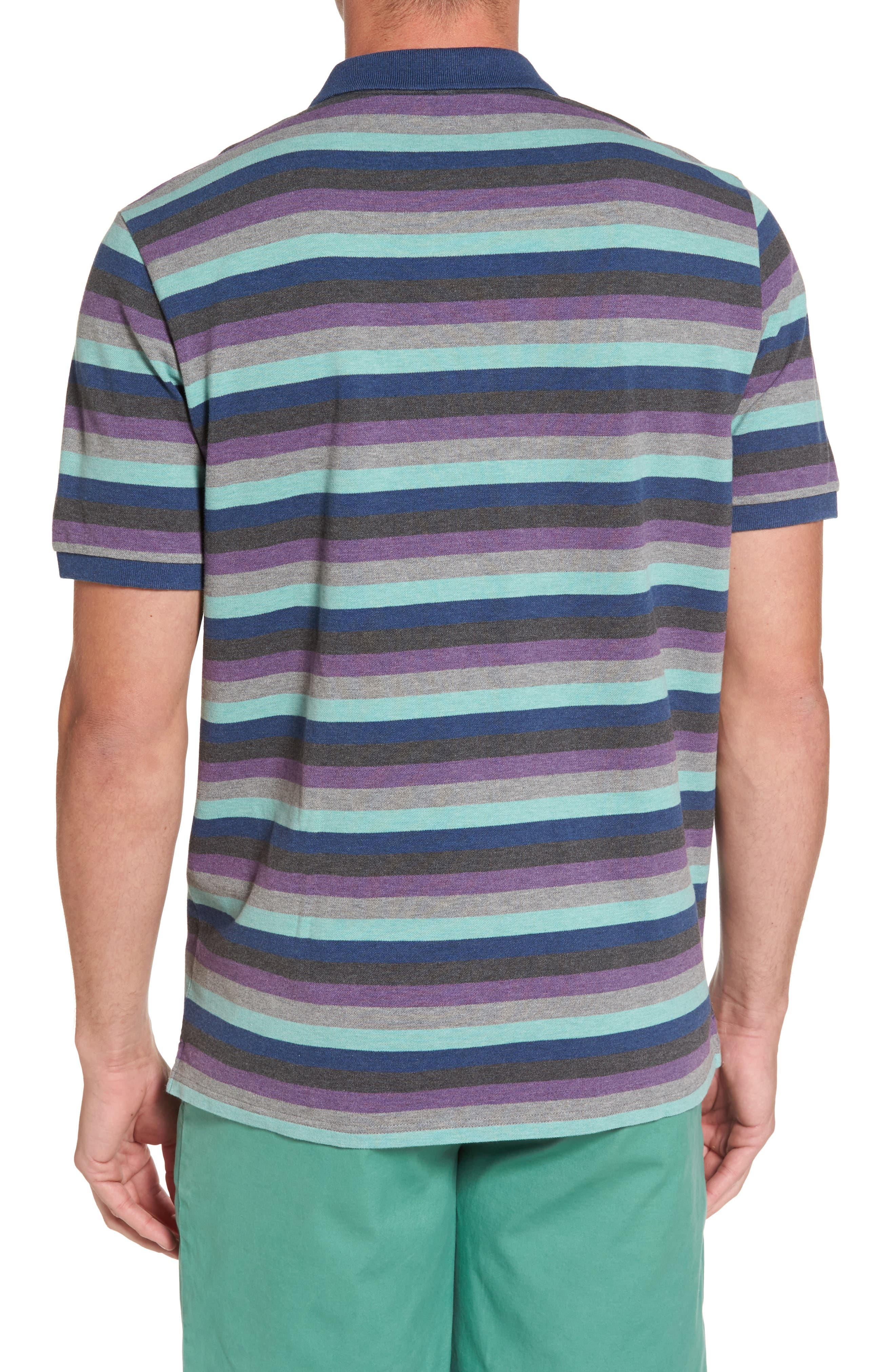 Striped Polo,                             Alternate thumbnail 2, color,                             020