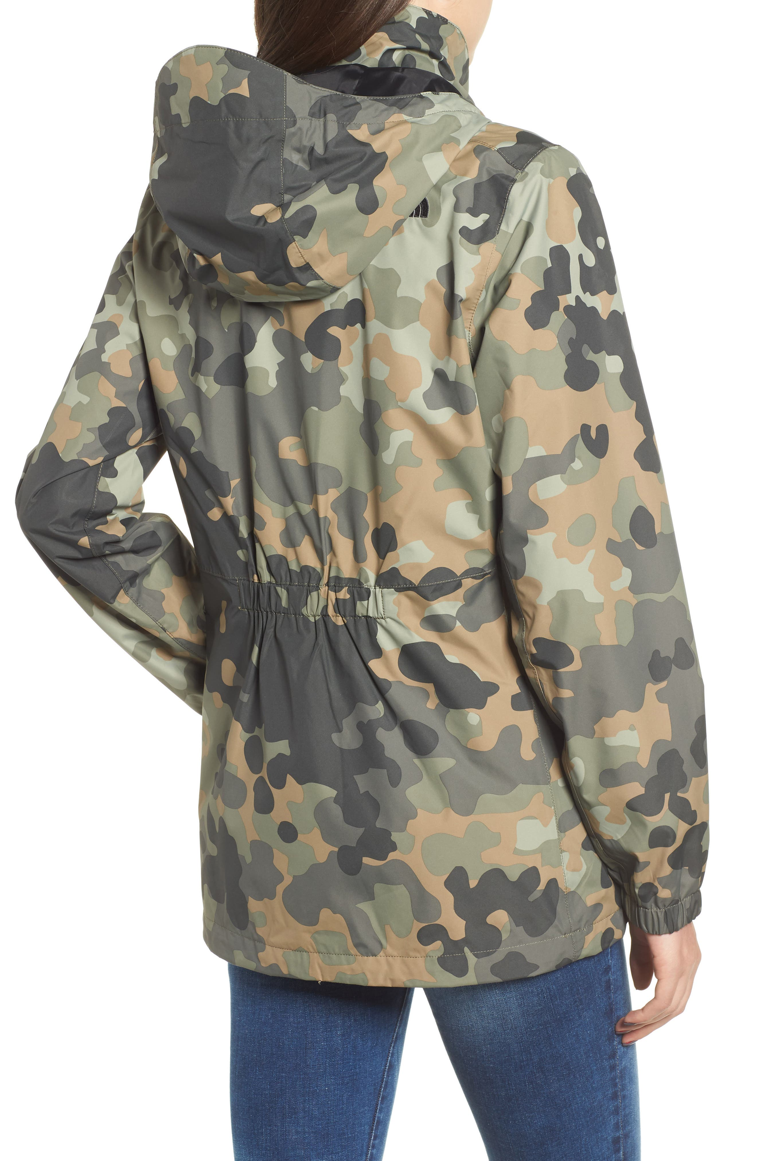 THE NORTH FACE, Resolve Waterproof Parka, Alternate thumbnail 2, color, NEW TAUPE GREEN MACROFLECK