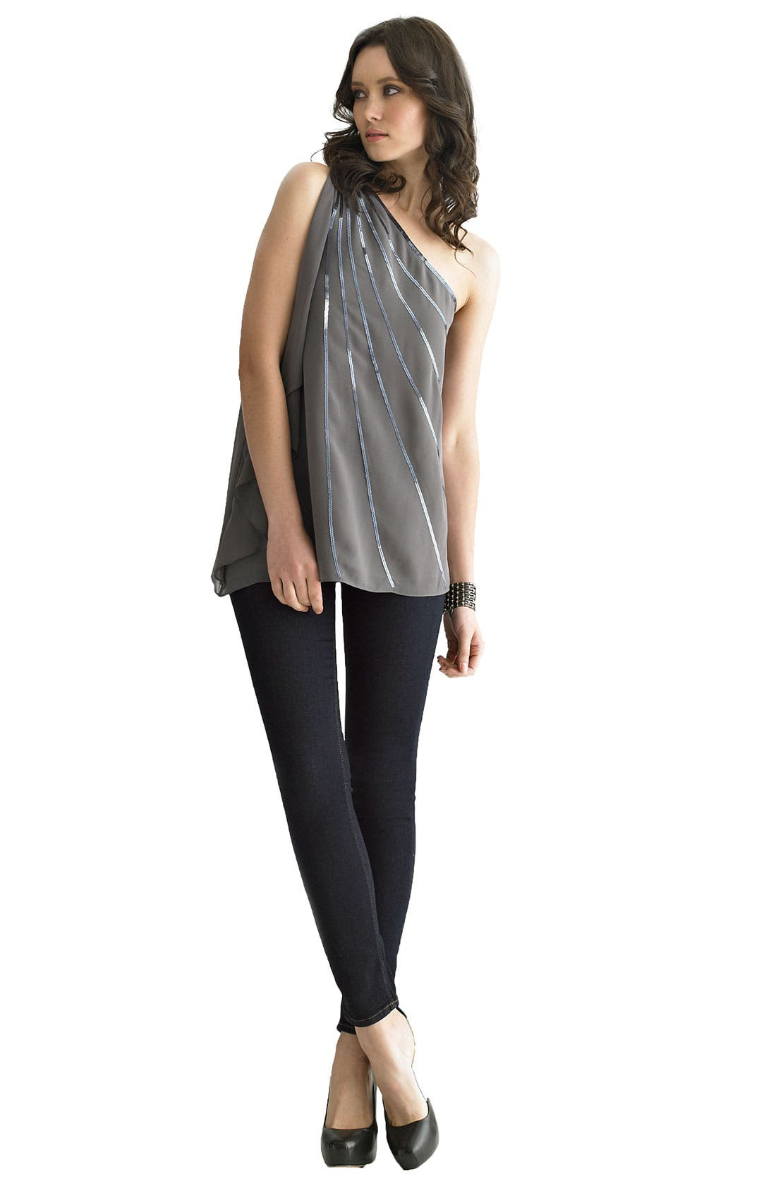 'Nico' Mid Rise Super Skinny Jeans,                             Alternate thumbnail 8, color,