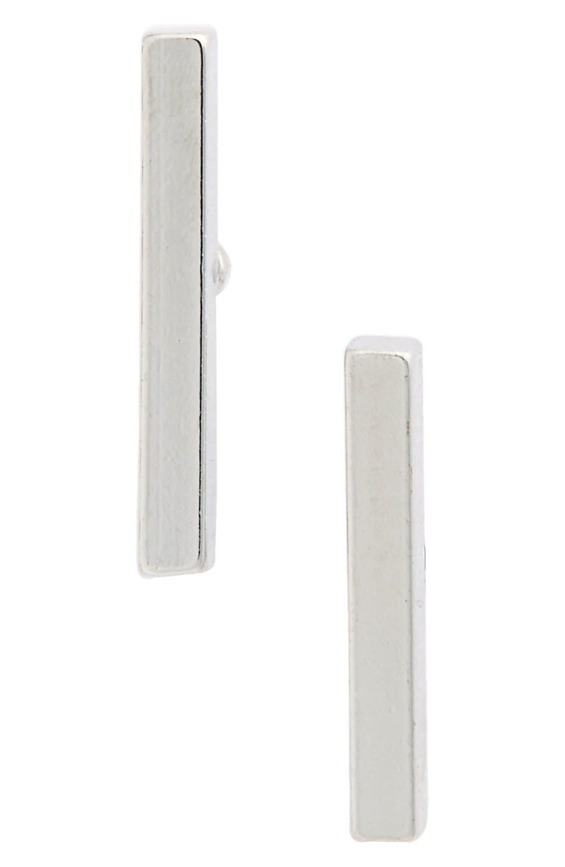 Bar Stud Earrings,                         Main,                         color, 040
