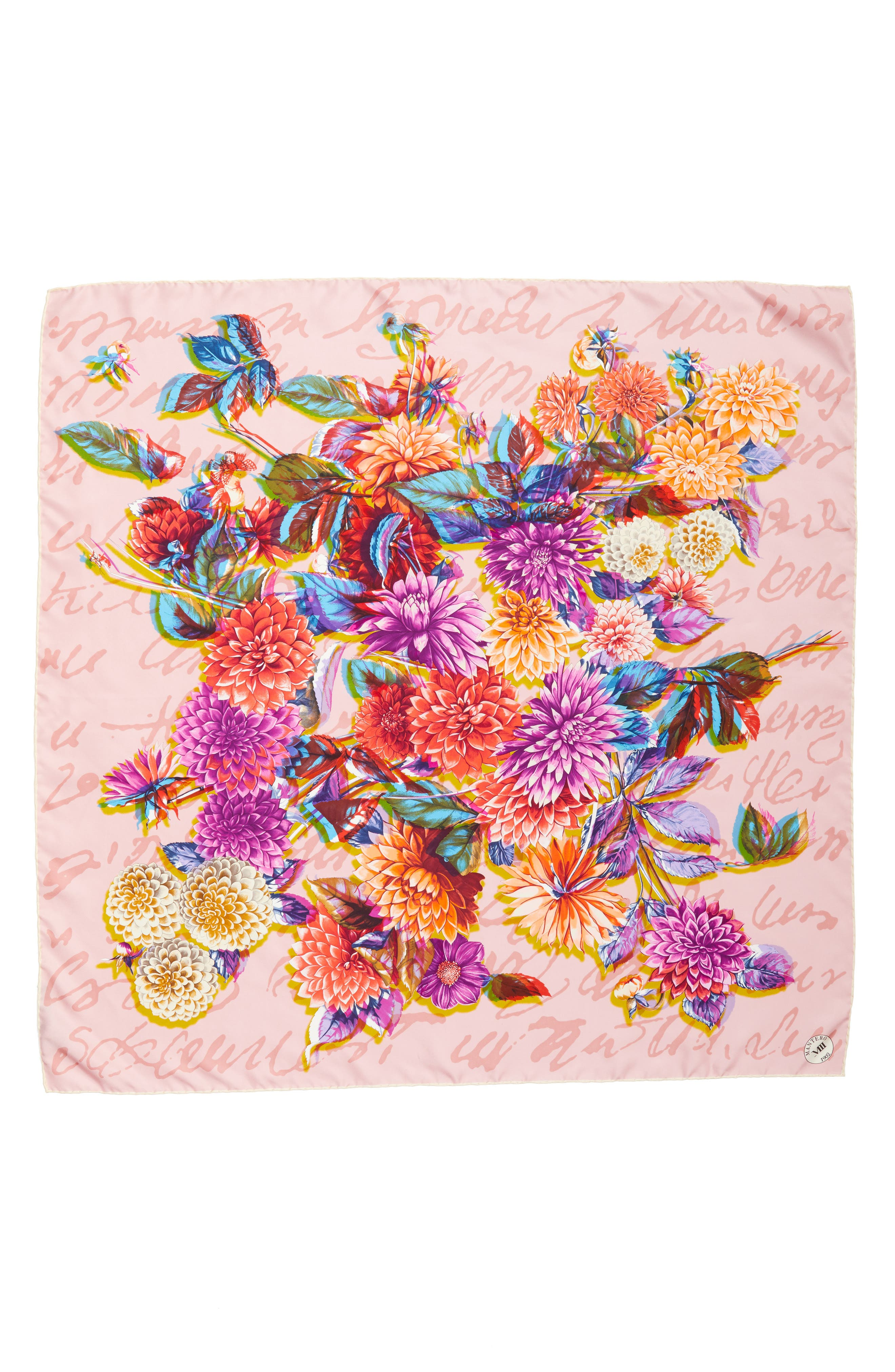 Dalia Multifocale Square Silk Scarf,                             Main thumbnail 1, color,                             PINK