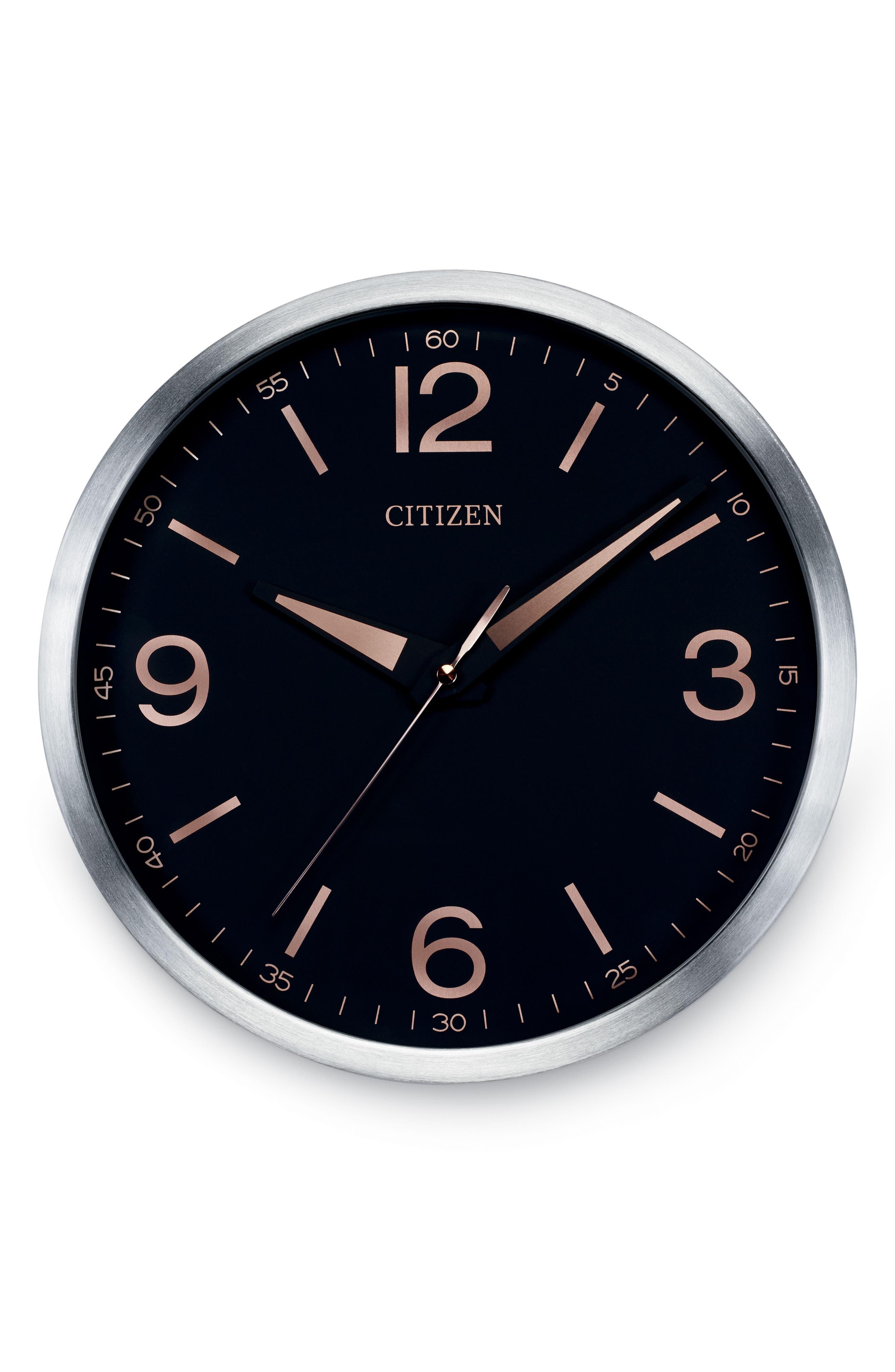 Modern Gallery Wall Clock,                             Main thumbnail 1, color,                             BLACK
