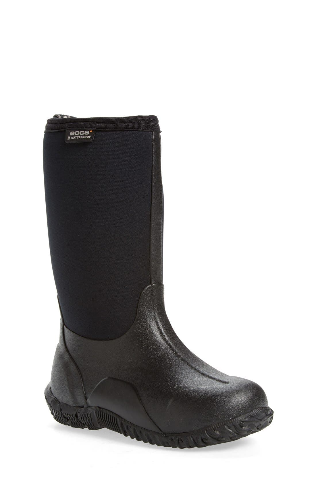 'Classic High' Waterproof Boot,                             Main thumbnail 1, color,                             001