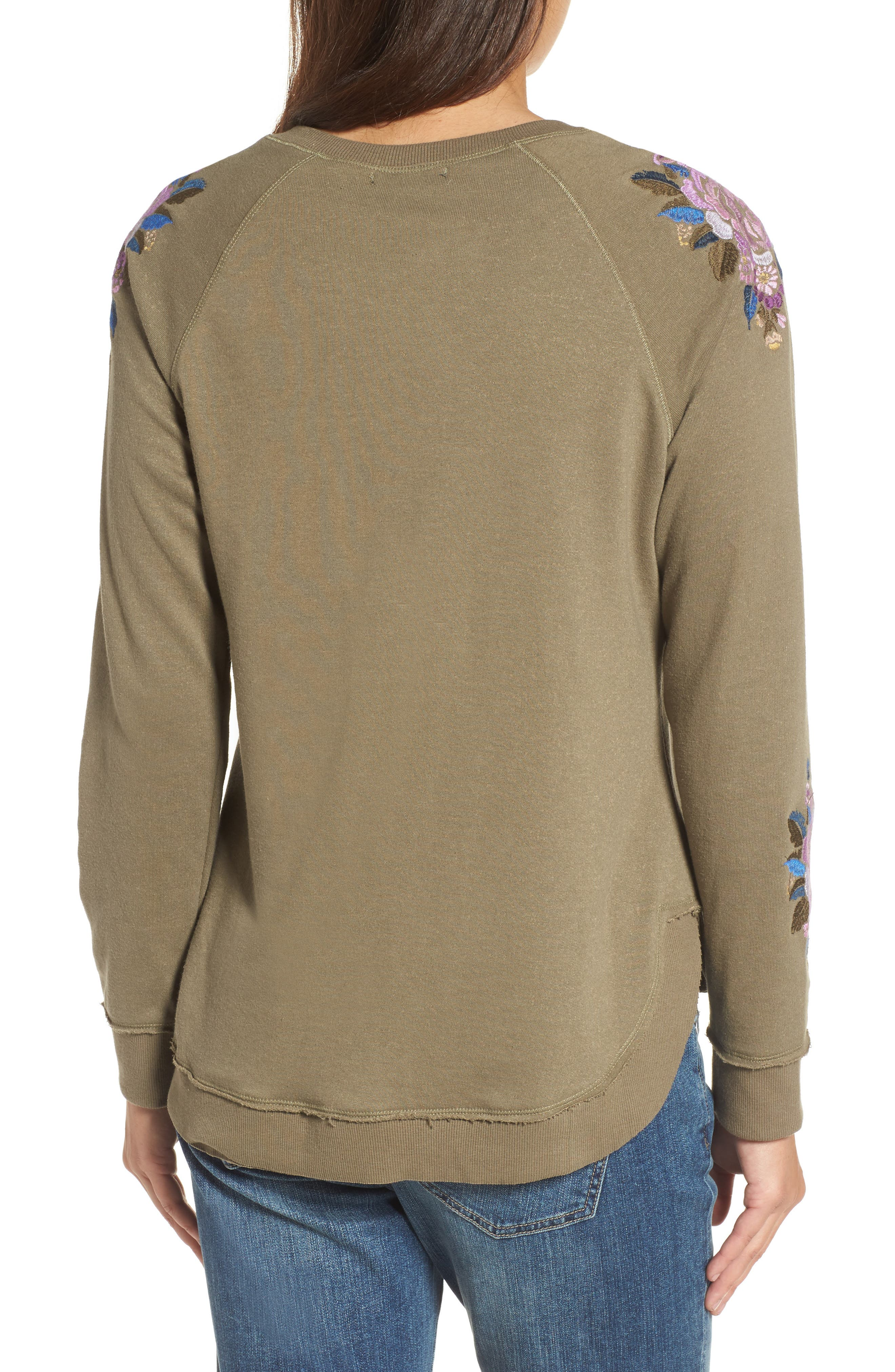 Embroidered Sweater,                             Alternate thumbnail 2, color,                             345