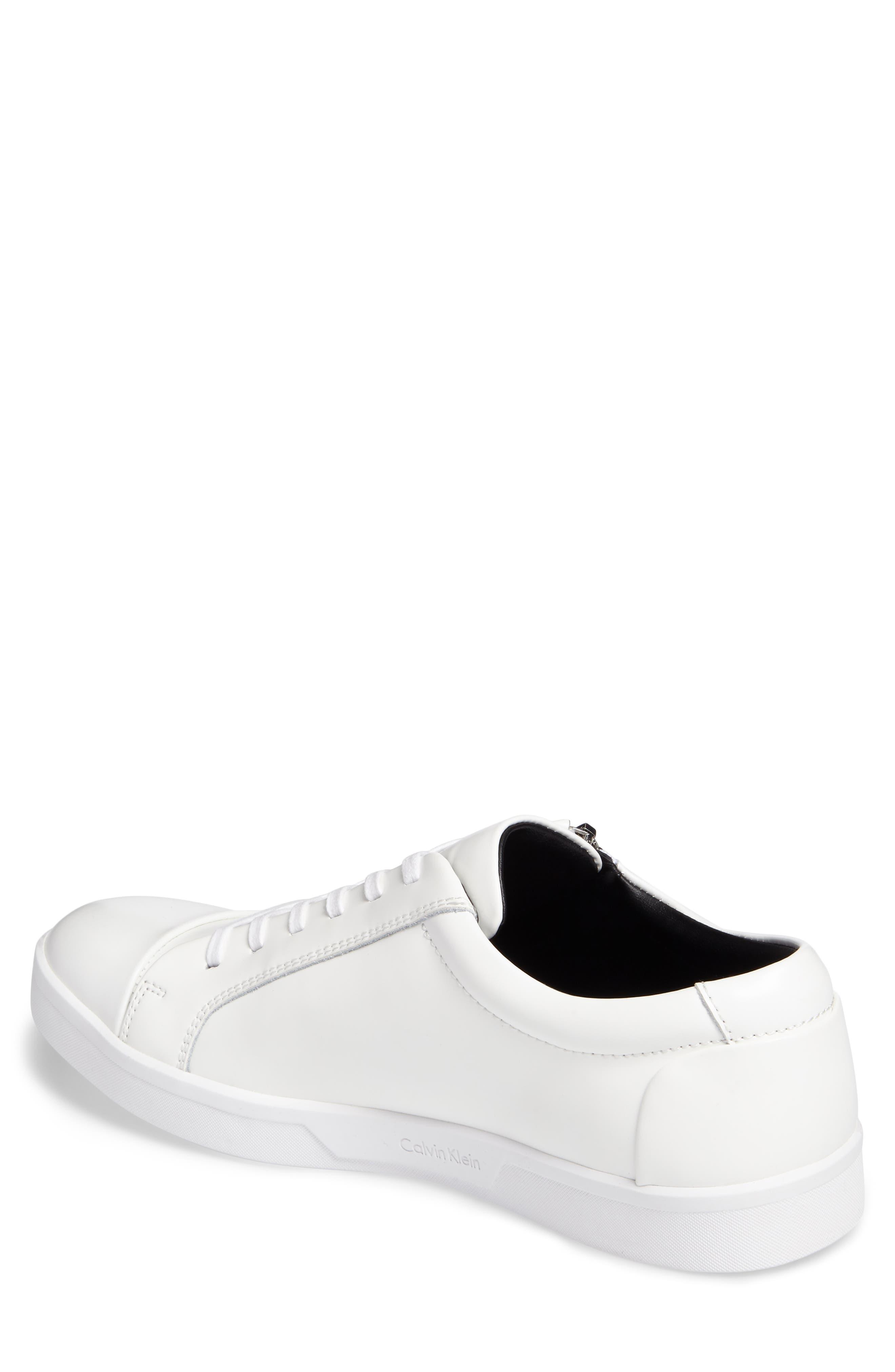 Ibrahim Cap-Toe Zip Sneaker,                             Alternate thumbnail 5, color,