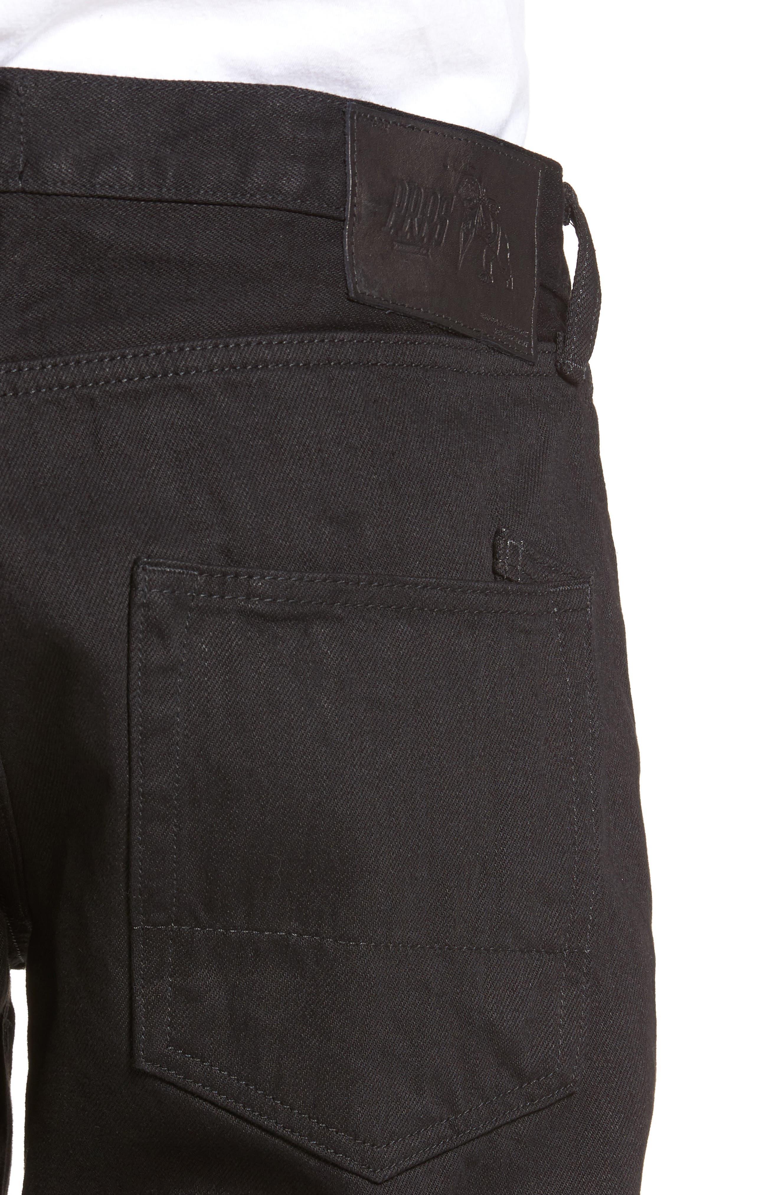 Demon Slim Straight Leg Jeans,                             Alternate thumbnail 4, color,