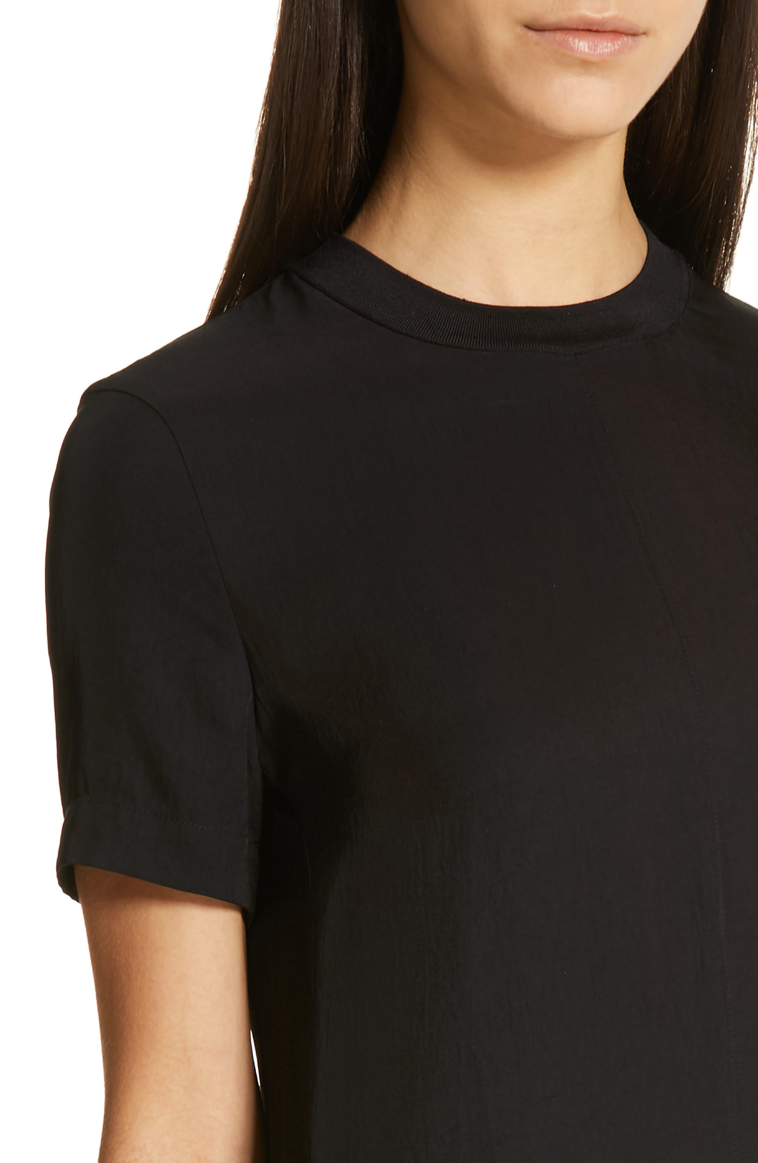RAG & BONE,                             Aiden T-Shirt Dress,                             Alternate thumbnail 5, color,                             BLACK