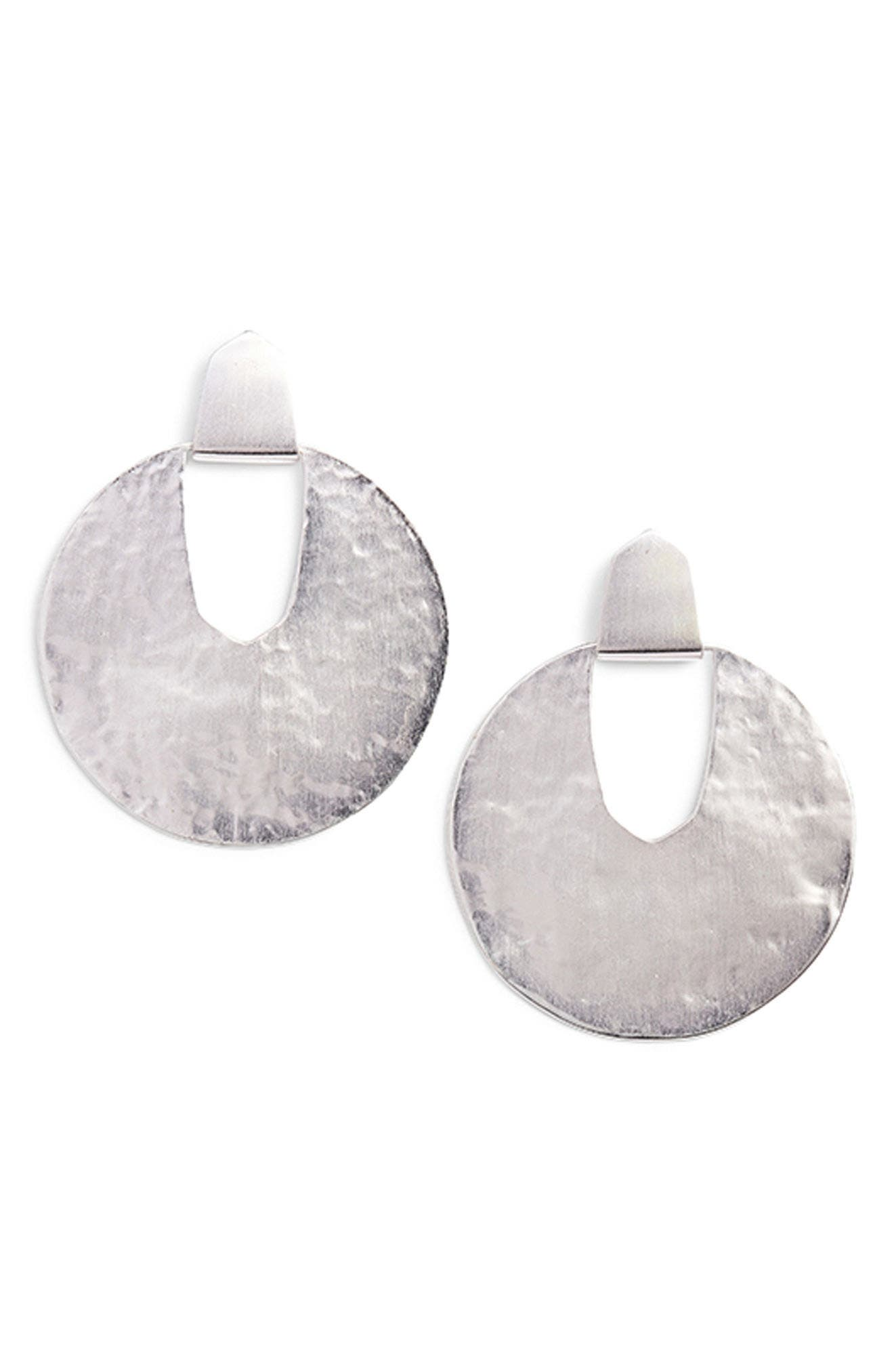 Diane Drop Earrings,                             Alternate thumbnail 4, color,                             BRIGHT SILVER