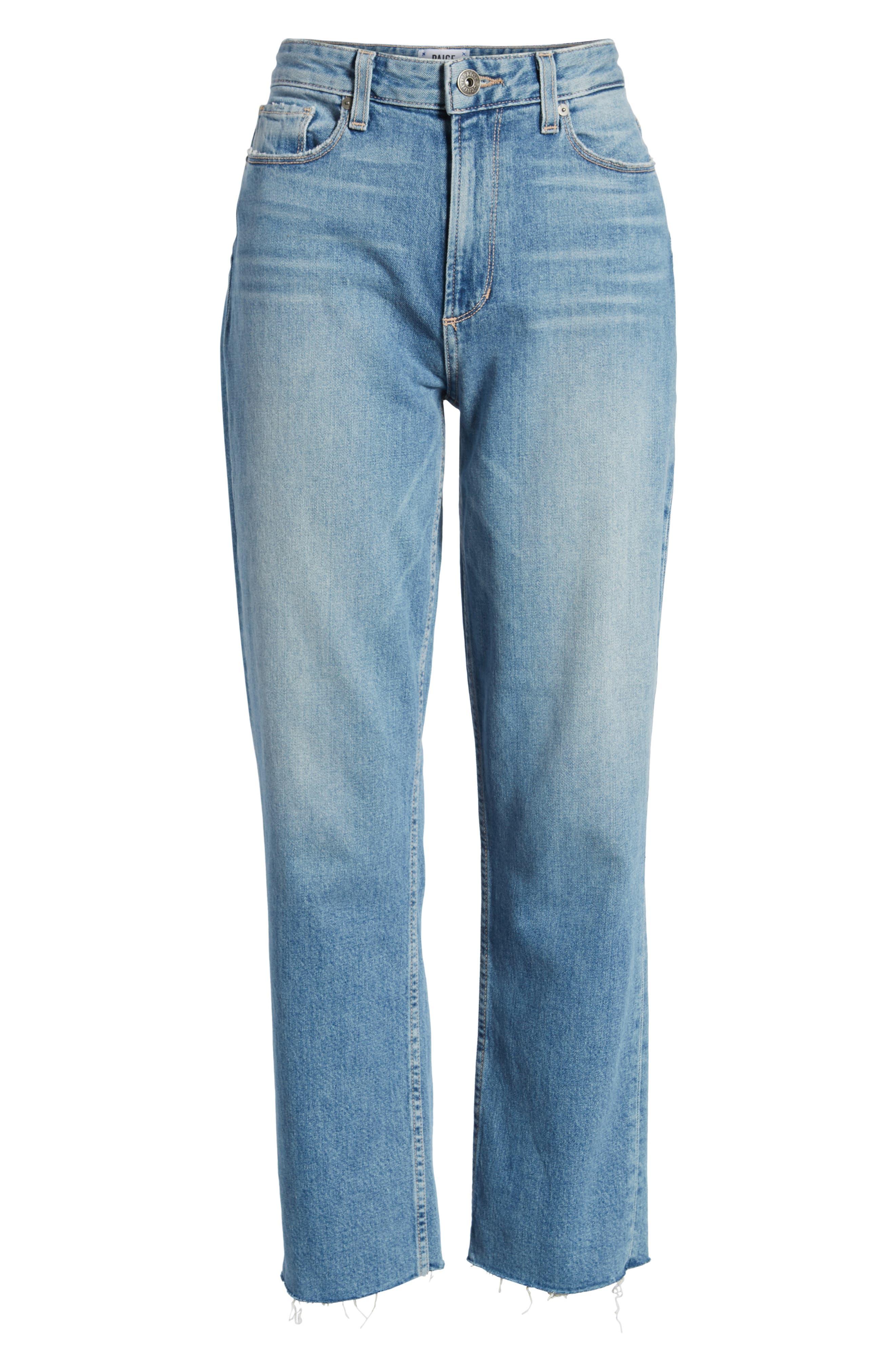 Vintage - Sarah High Waist Crop Straight Leg Jeans,                             Alternate thumbnail 7, color,                             400