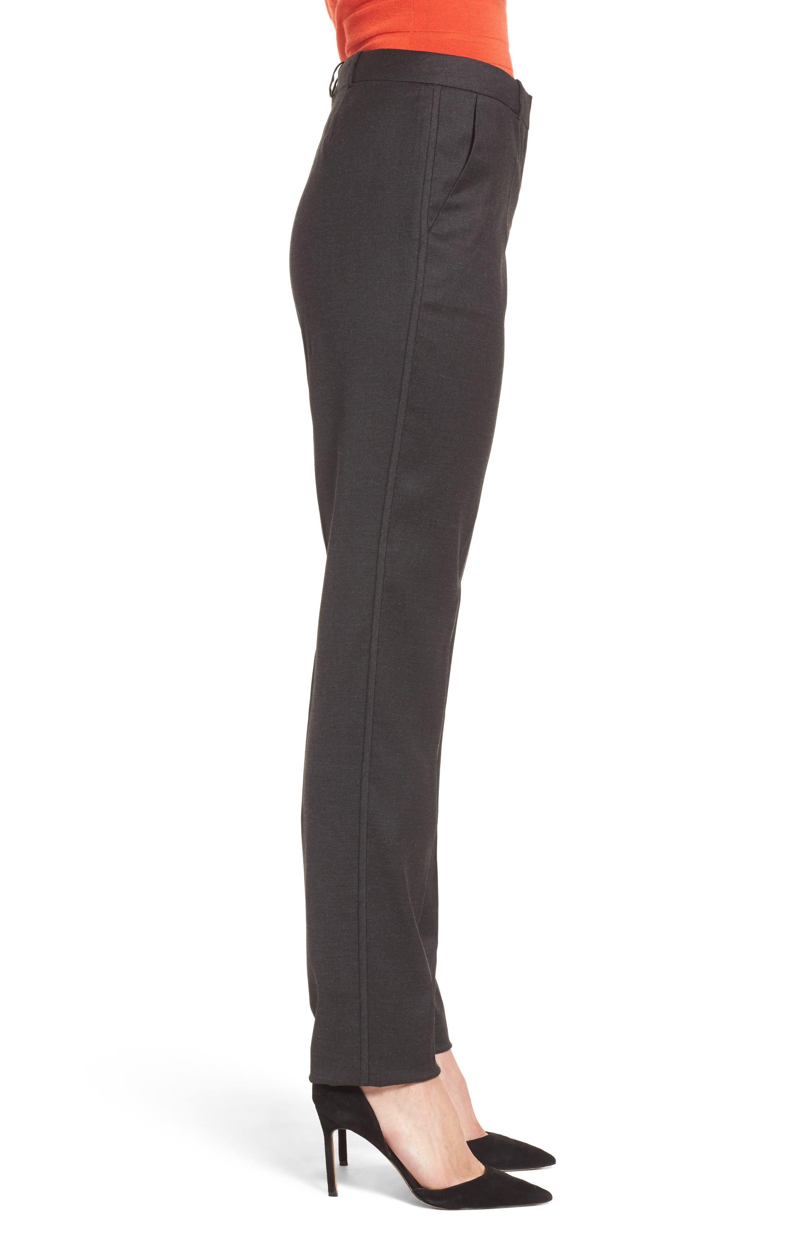 Tilunana Stretch Wool Blend Suit Trousers,                             Alternate thumbnail 3, color,                             094
