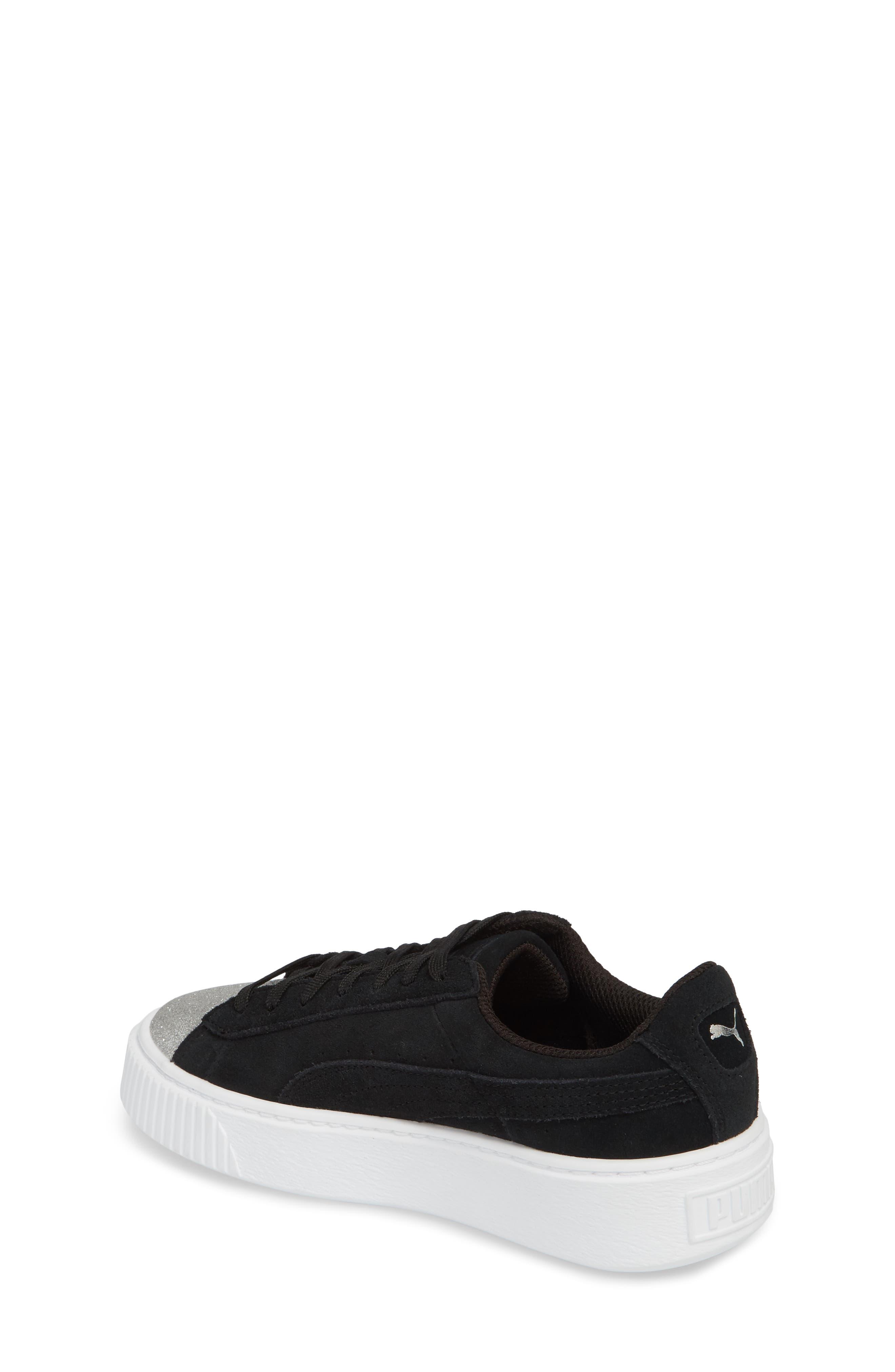 Suede Platform Glam PS Sneaker,                             Alternate thumbnail 6, color,