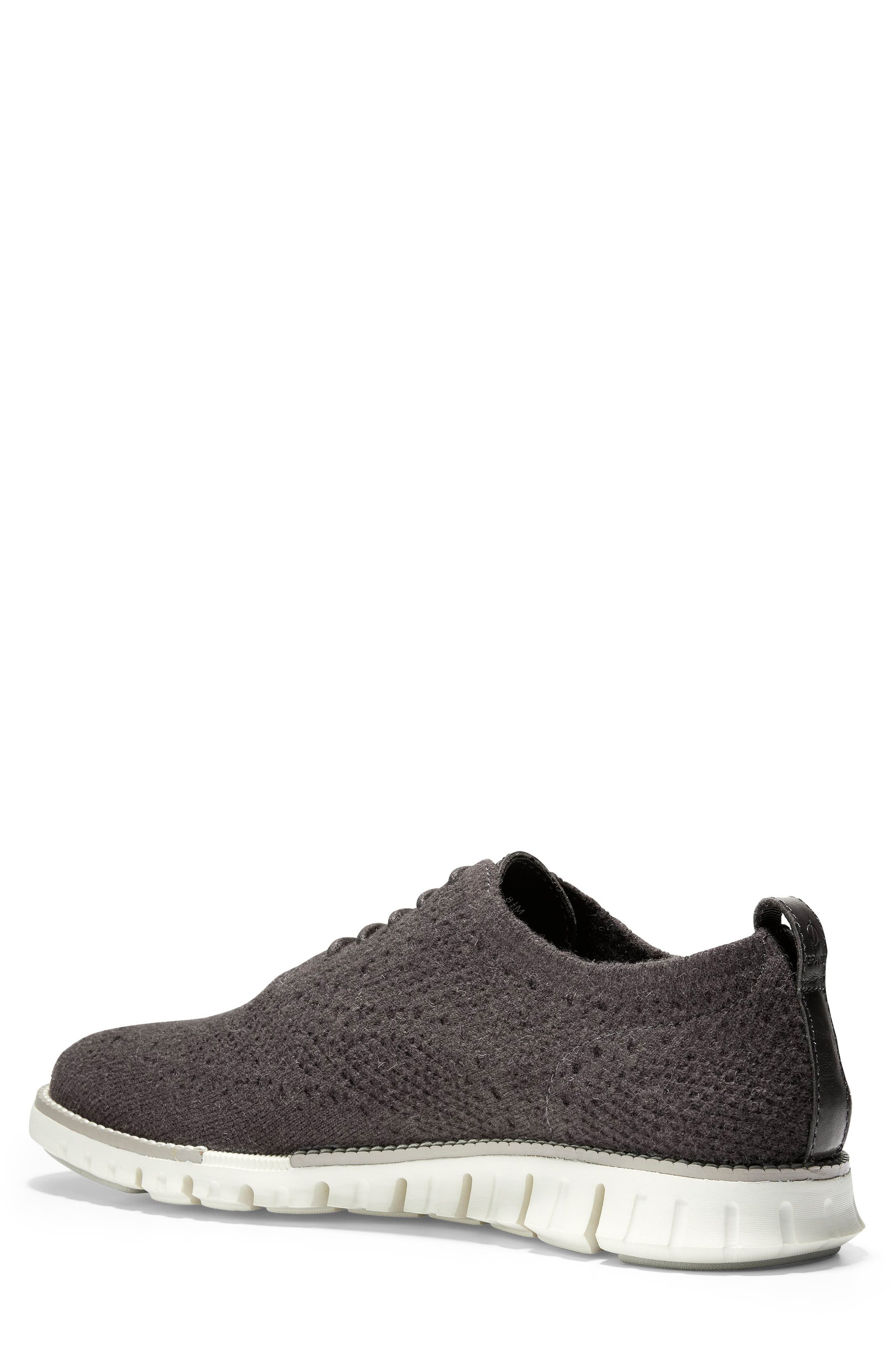 ZeroGrand Stitchlite<sup>™</sup> Water Resistant Wool Oxford,                             Alternate thumbnail 2, color,                             DARK ROAST WOOL KNIT/ IVORY