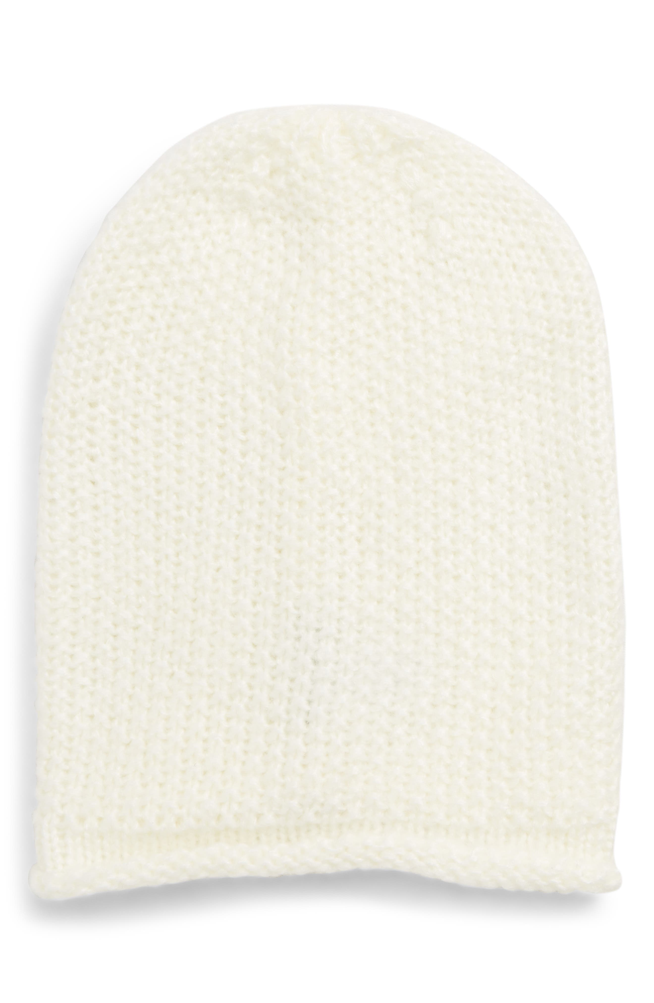 Simple Solid Slouchy Beanie - Ivory