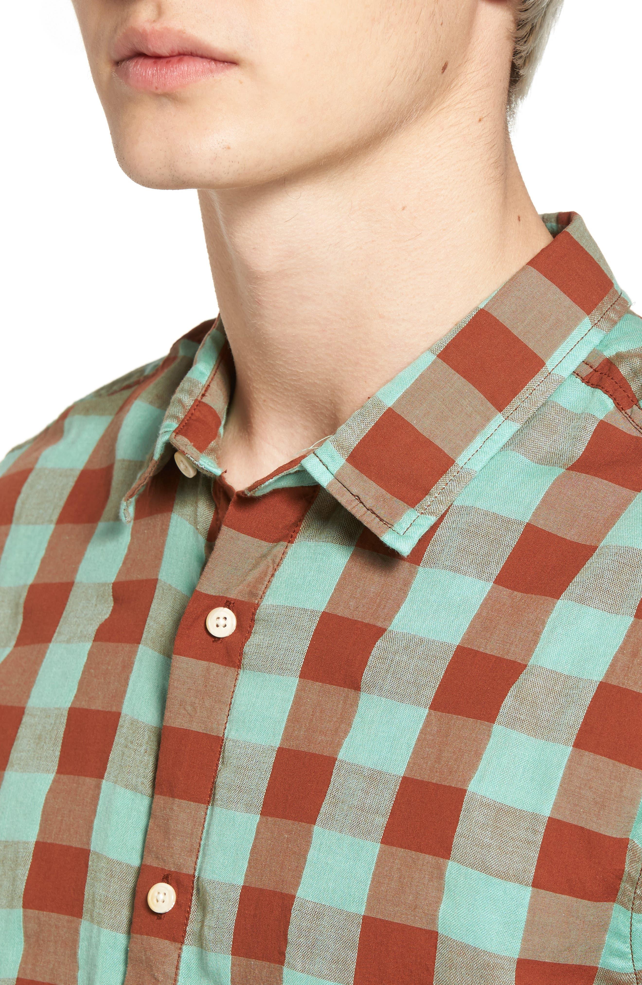 Check Woven Shirt,                             Alternate thumbnail 4, color,