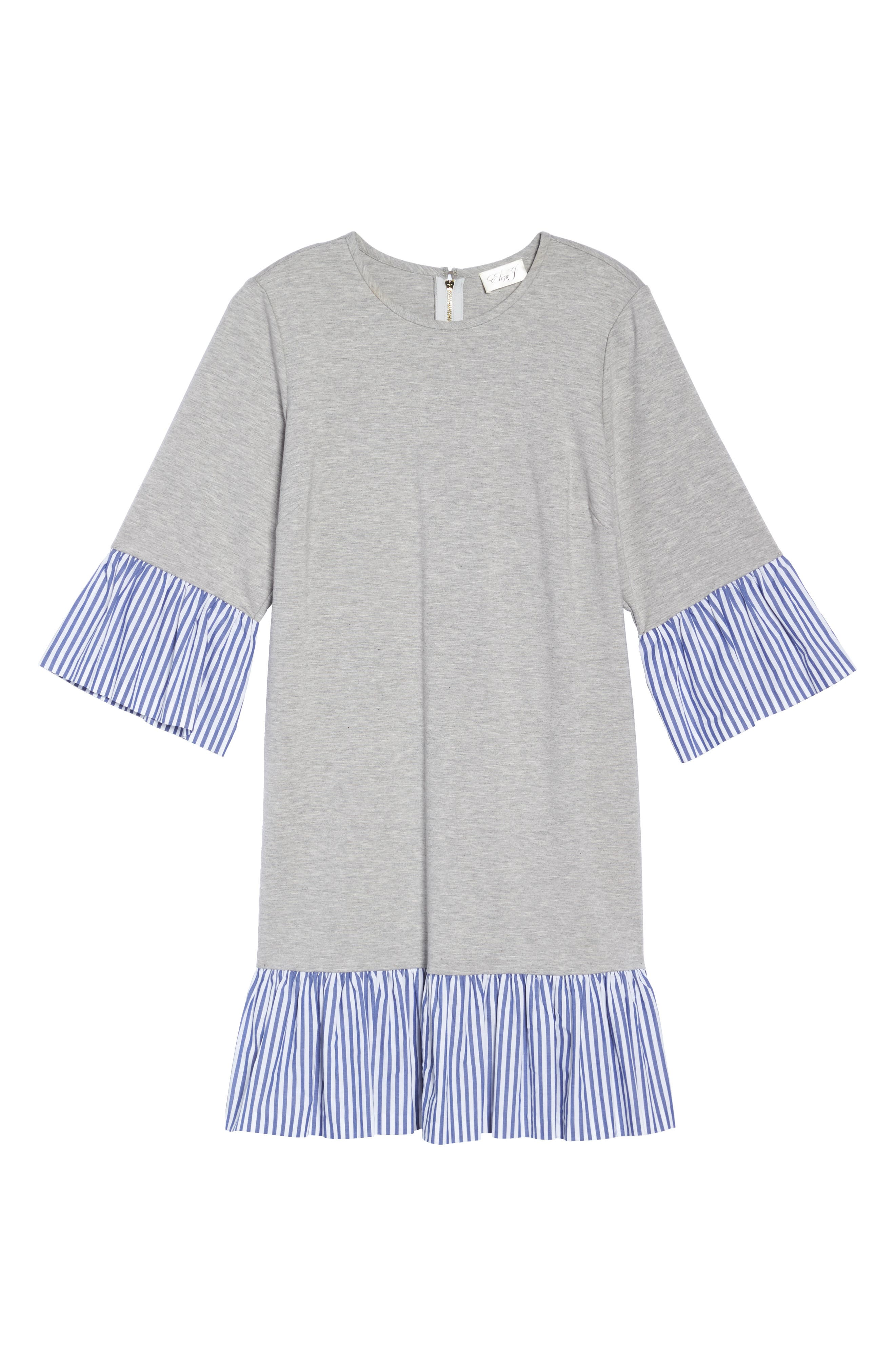 Flounce Hem Sweatshirt Dress,                             Alternate thumbnail 6, color,                             030