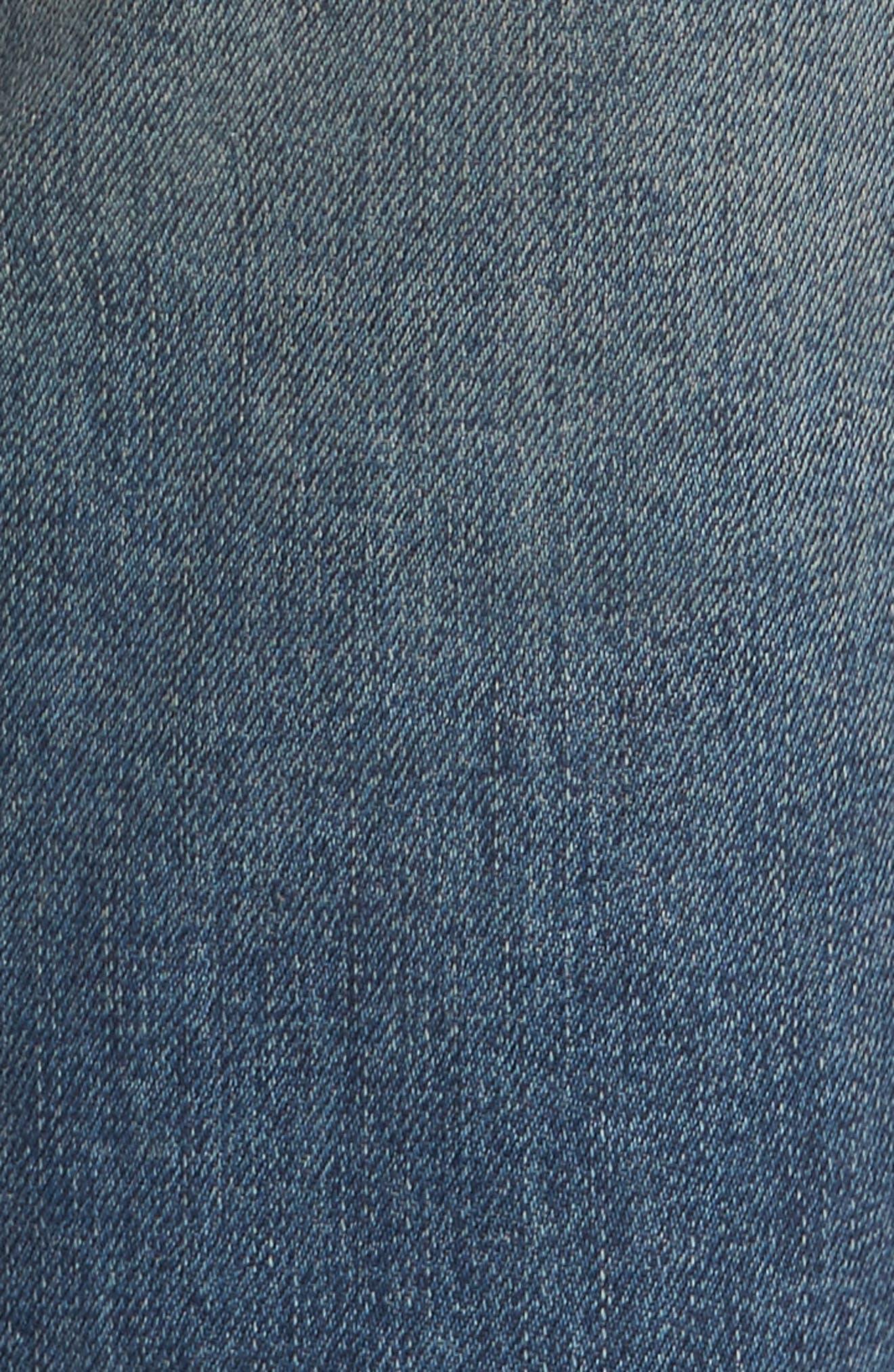 High Waist Skinny Crop Jeans,                             Alternate thumbnail 5, color,                             400