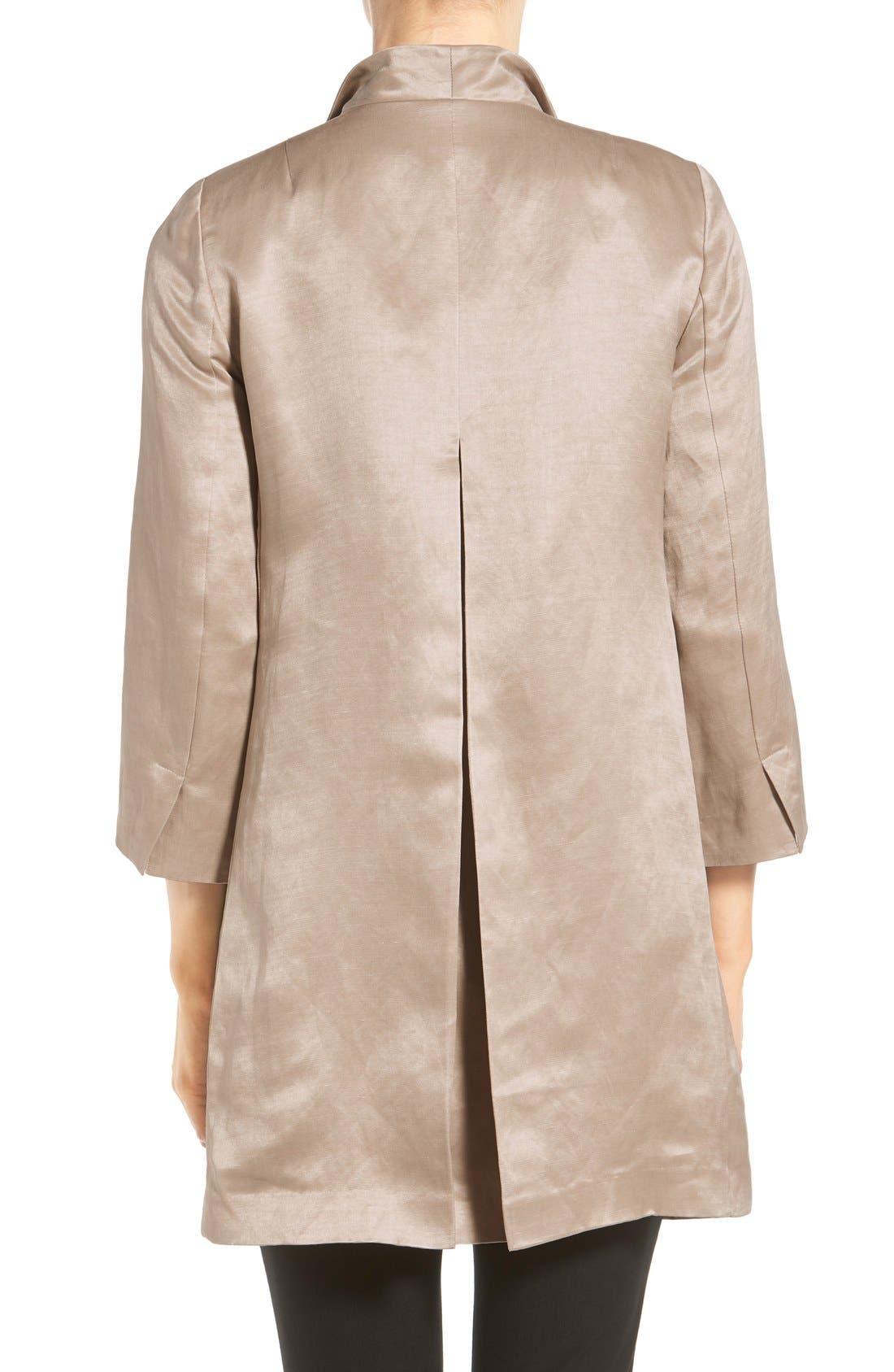 High Collar Long Jacket,                             Alternate thumbnail 25, color,