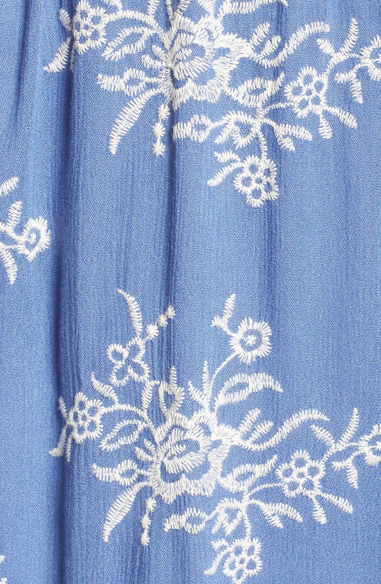 Off the Shoulder Midi Dress,                             Alternate thumbnail 5, color,