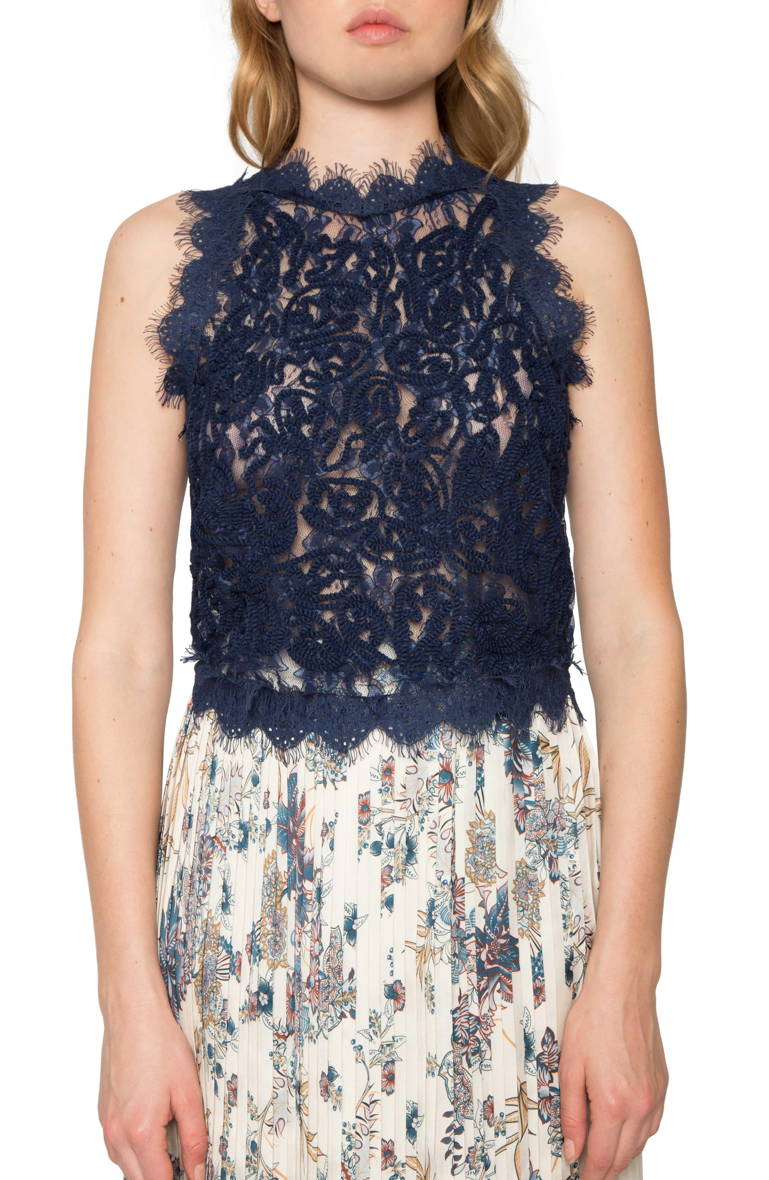 Textured Lace Tank,                         Main,                         color, 415