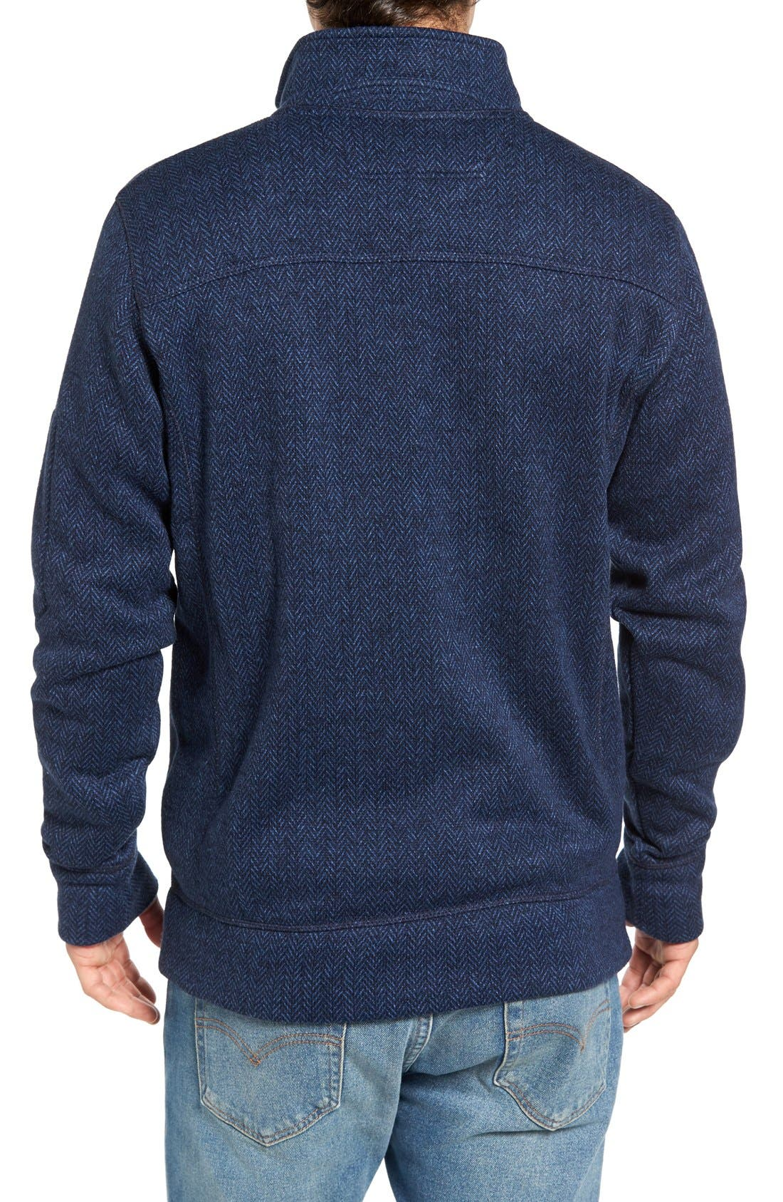 Lance Herringbone Zip Mock Neck Sweater,                             Alternate thumbnail 10, color,
