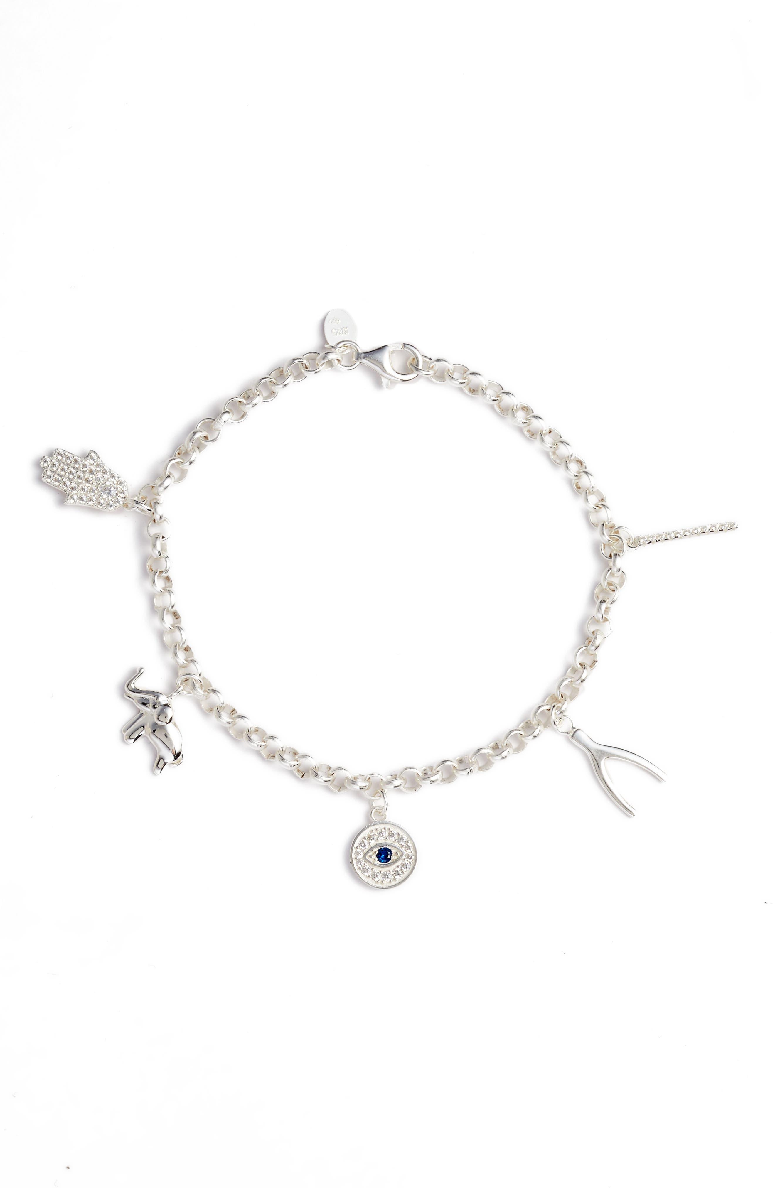 Talisman Charm Bracelet,                         Main,                         color,