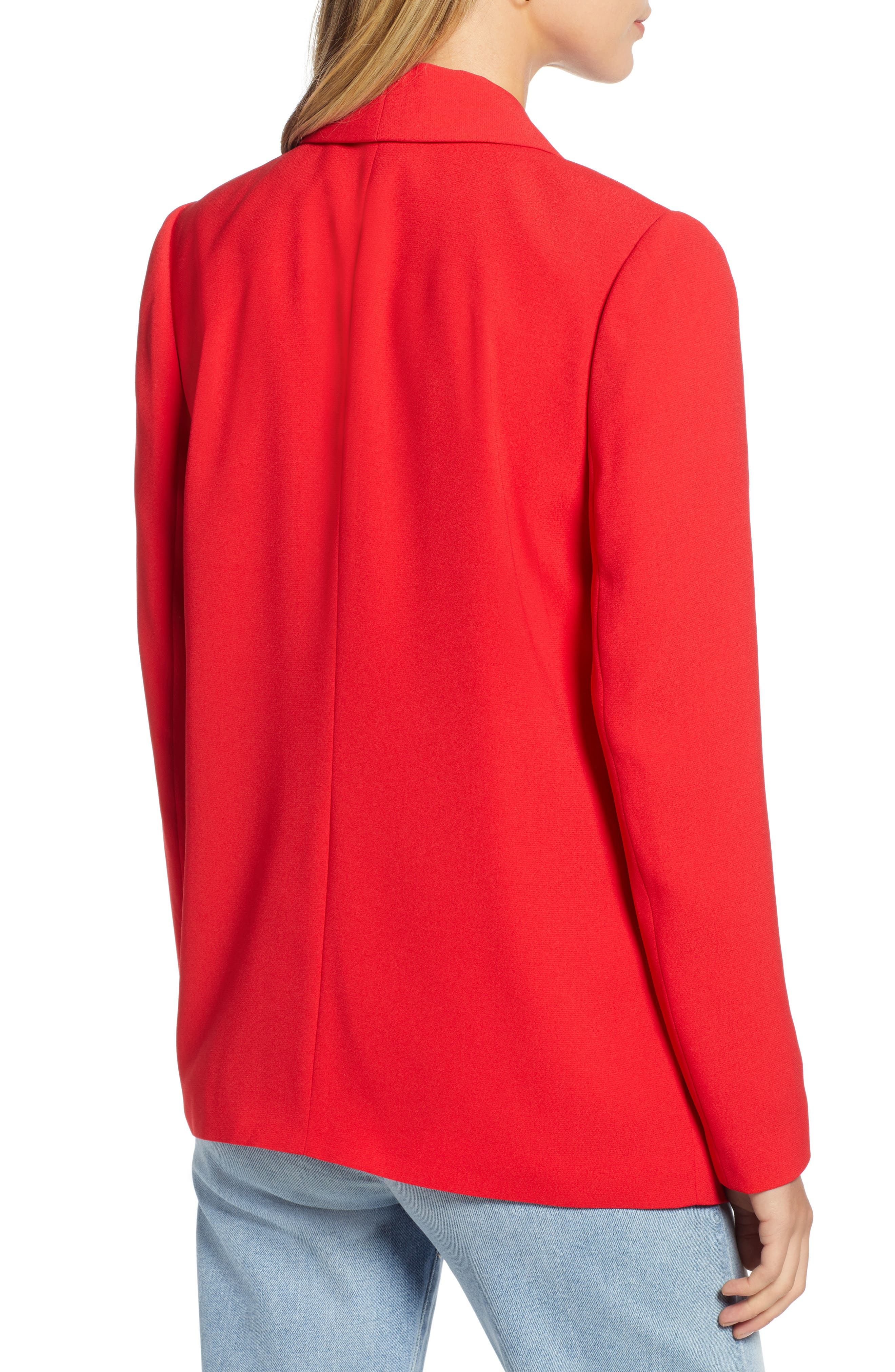 Shawl Collar Blazer,                             Alternate thumbnail 2, color,                             RED CHINOISE