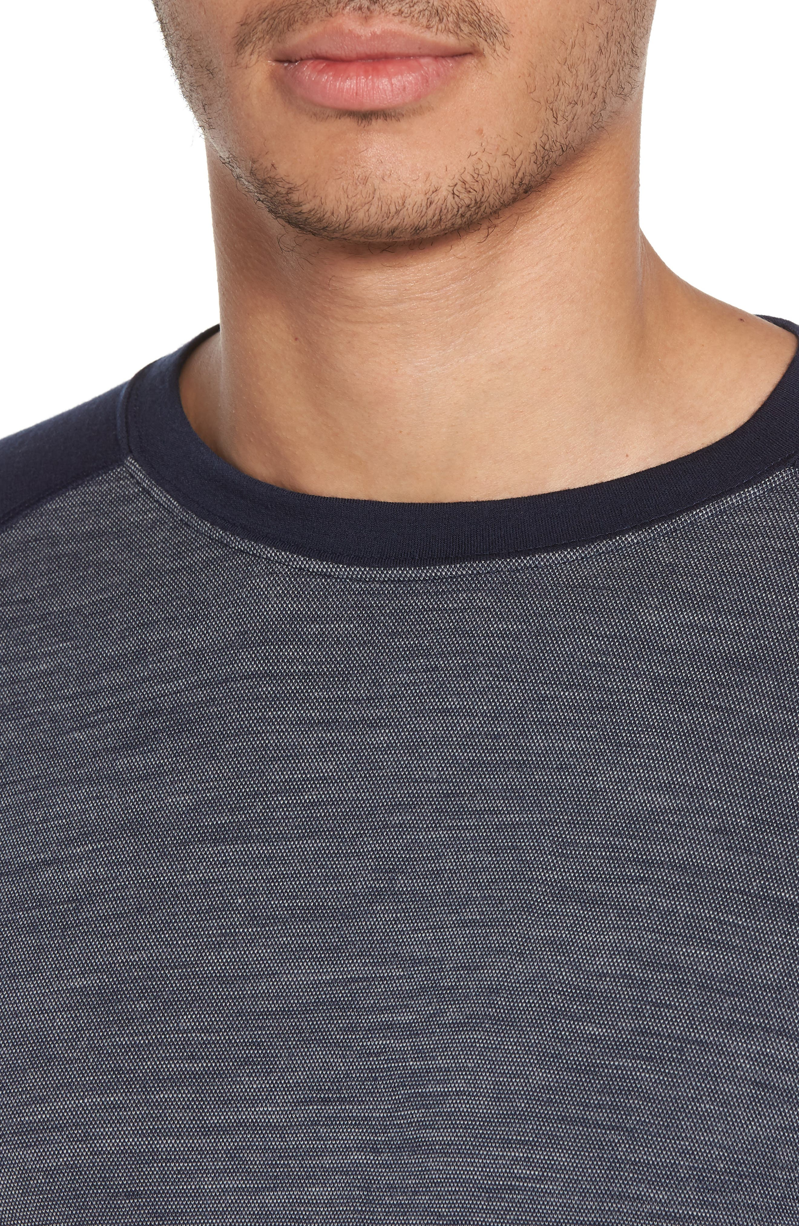 Merino Wool Raglan T-Shirt,                             Alternate thumbnail 4, color,                             410
