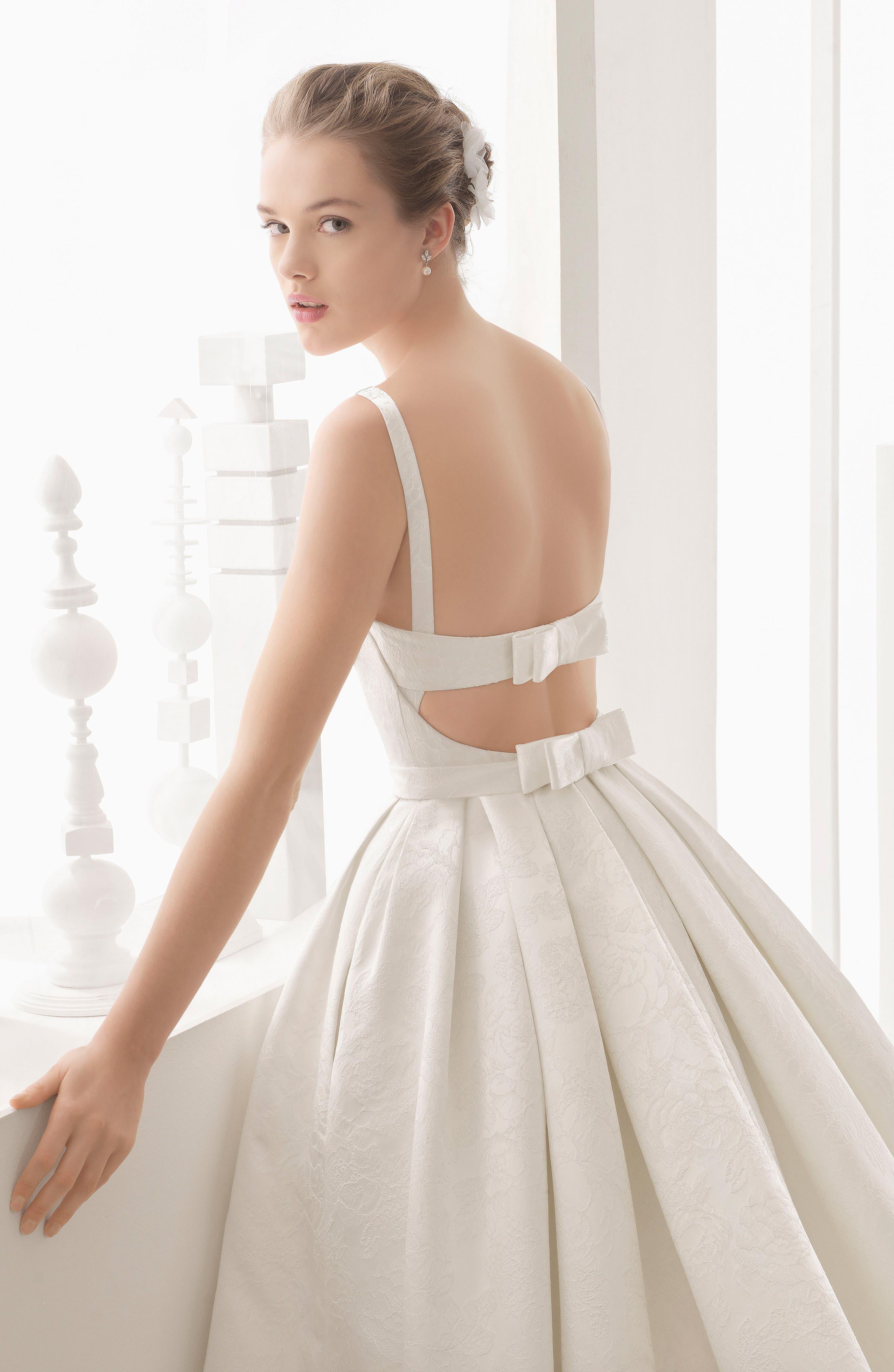 Nazar Floral Brocade Sleeveless Gown,                             Alternate thumbnail 3, color,                             900