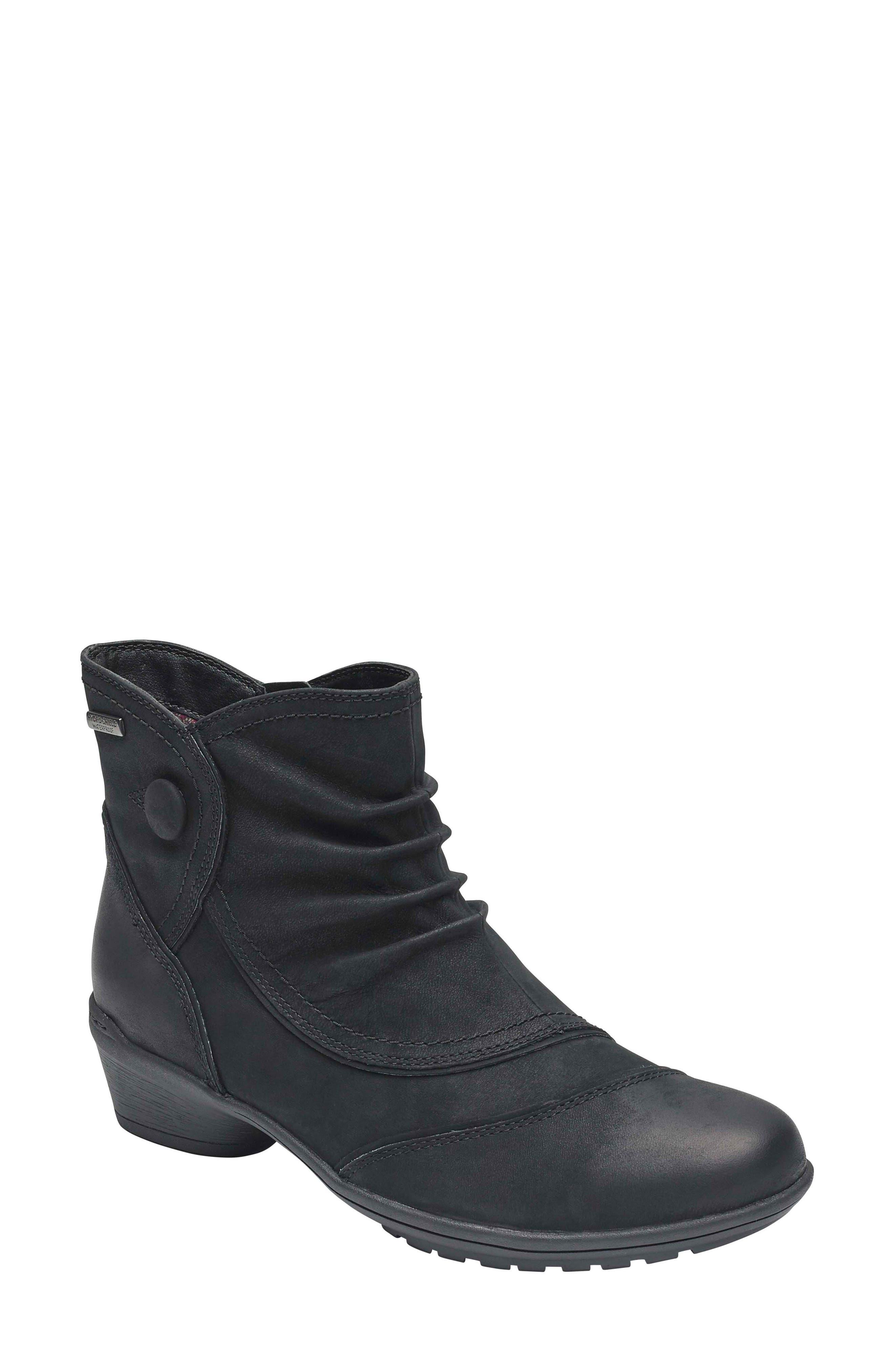 Raven Waterproof Bootie, Main, color, BLACK WATERPROOF NUBUCK