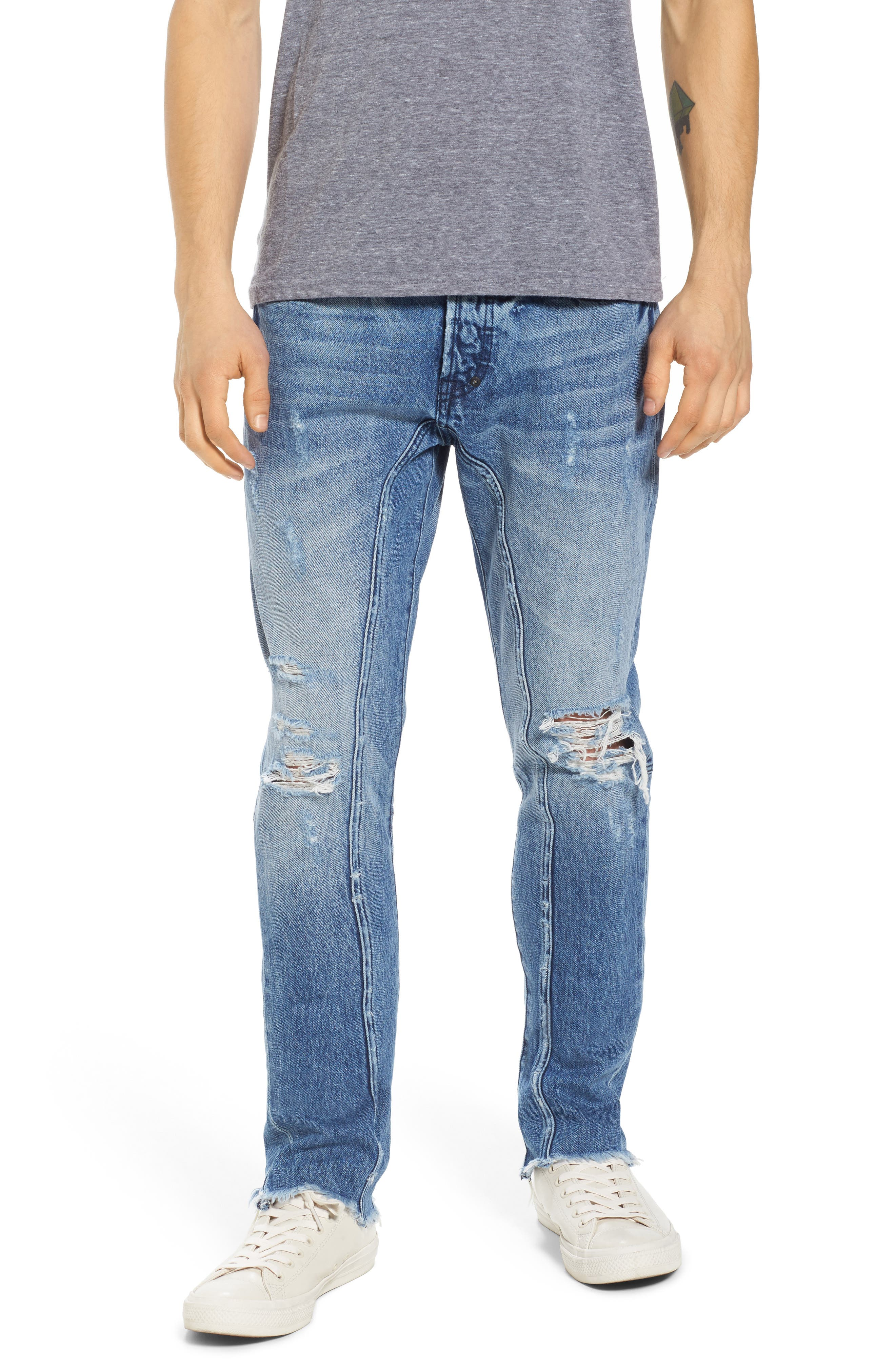 Le Sabre Tapered Fit Jeans,                         Main,                         color, 490