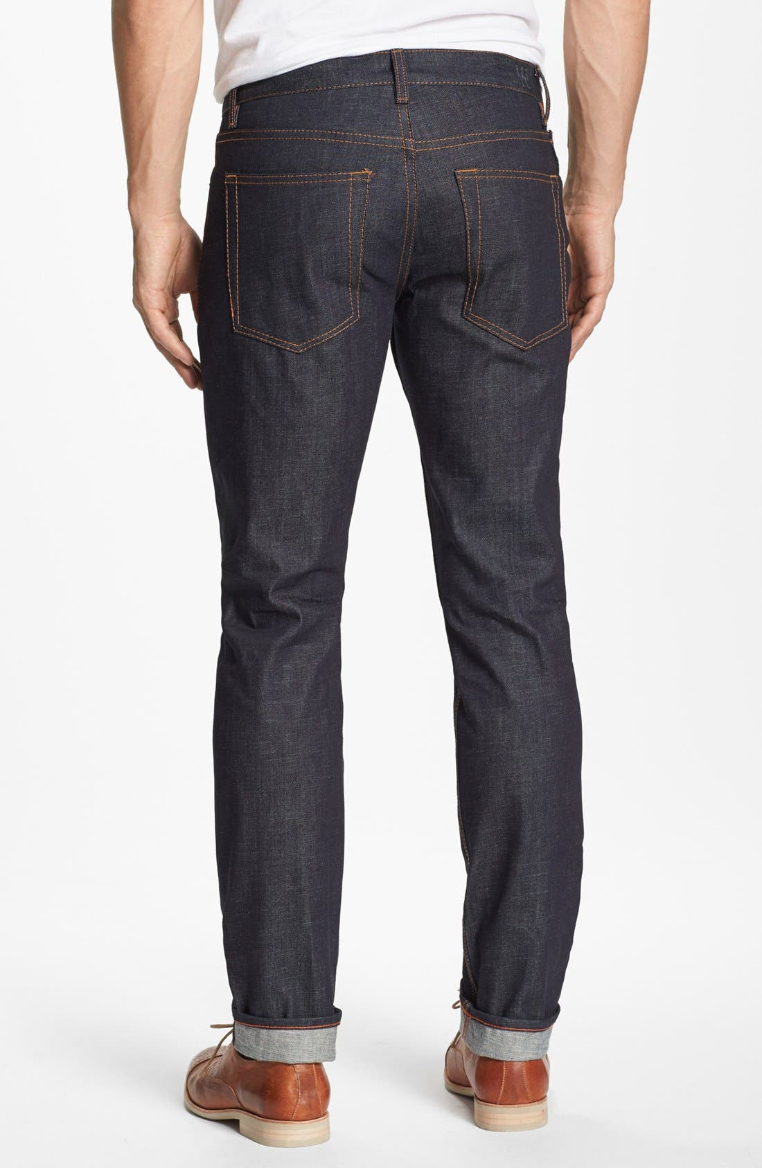 'Grand Street' Slim Fit Jeans,                             Alternate thumbnail 3, color,                             400