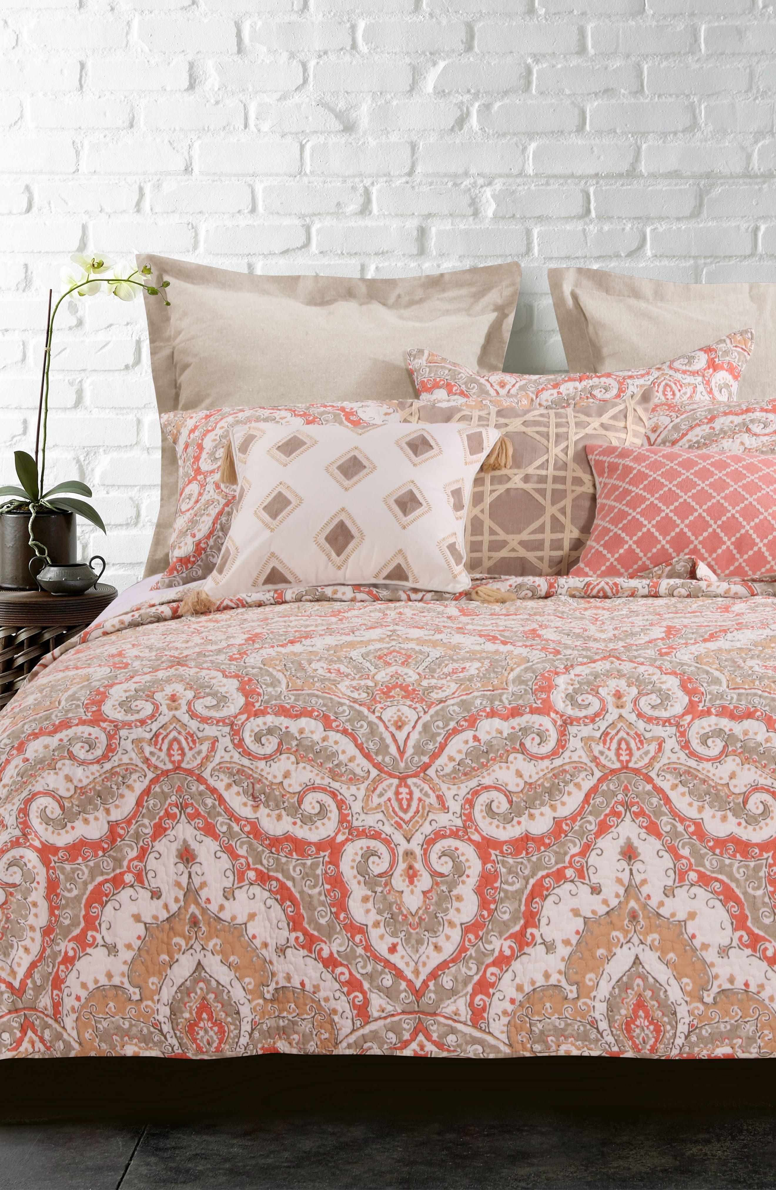 Tegan Reversible Quilt,                         Main,                         color, BEIGE MULTI