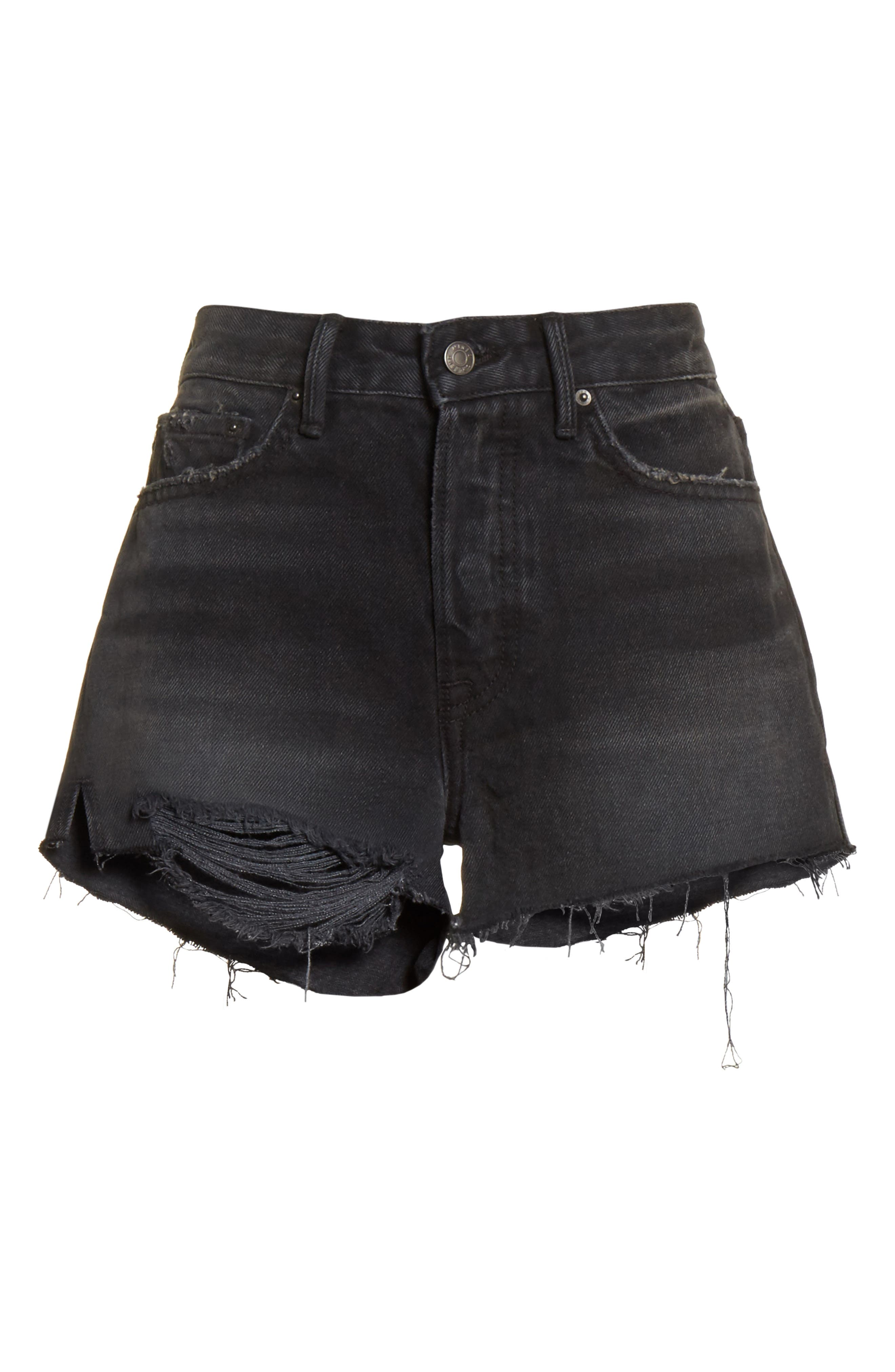 Cindy Rigid High Waist Denim Shorts,                             Alternate thumbnail 6, color,                             007