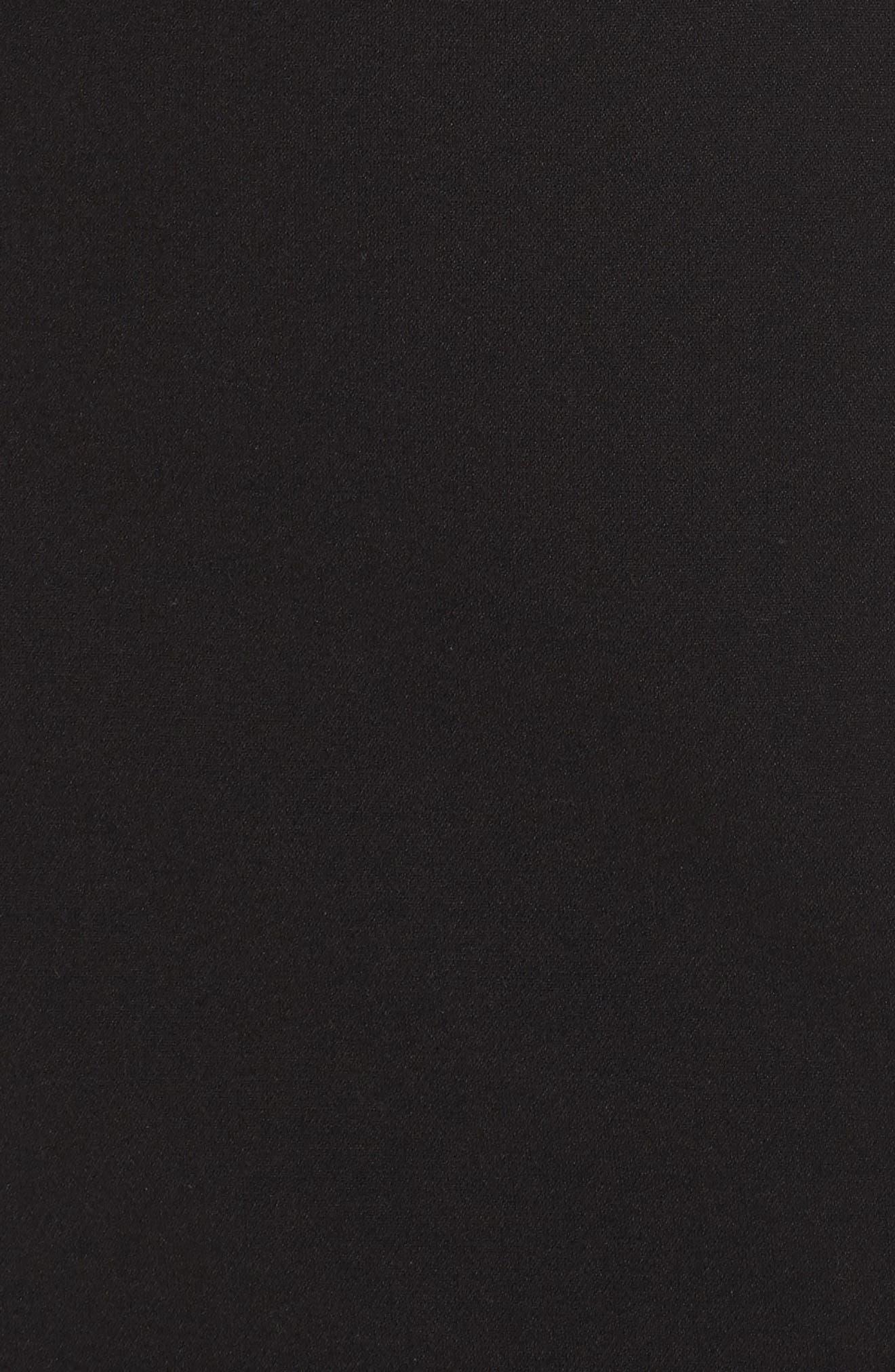 TAHARI,                             Star Neckline Crepe Sheath Dress,                             Alternate thumbnail 6, color,                             BLACK
