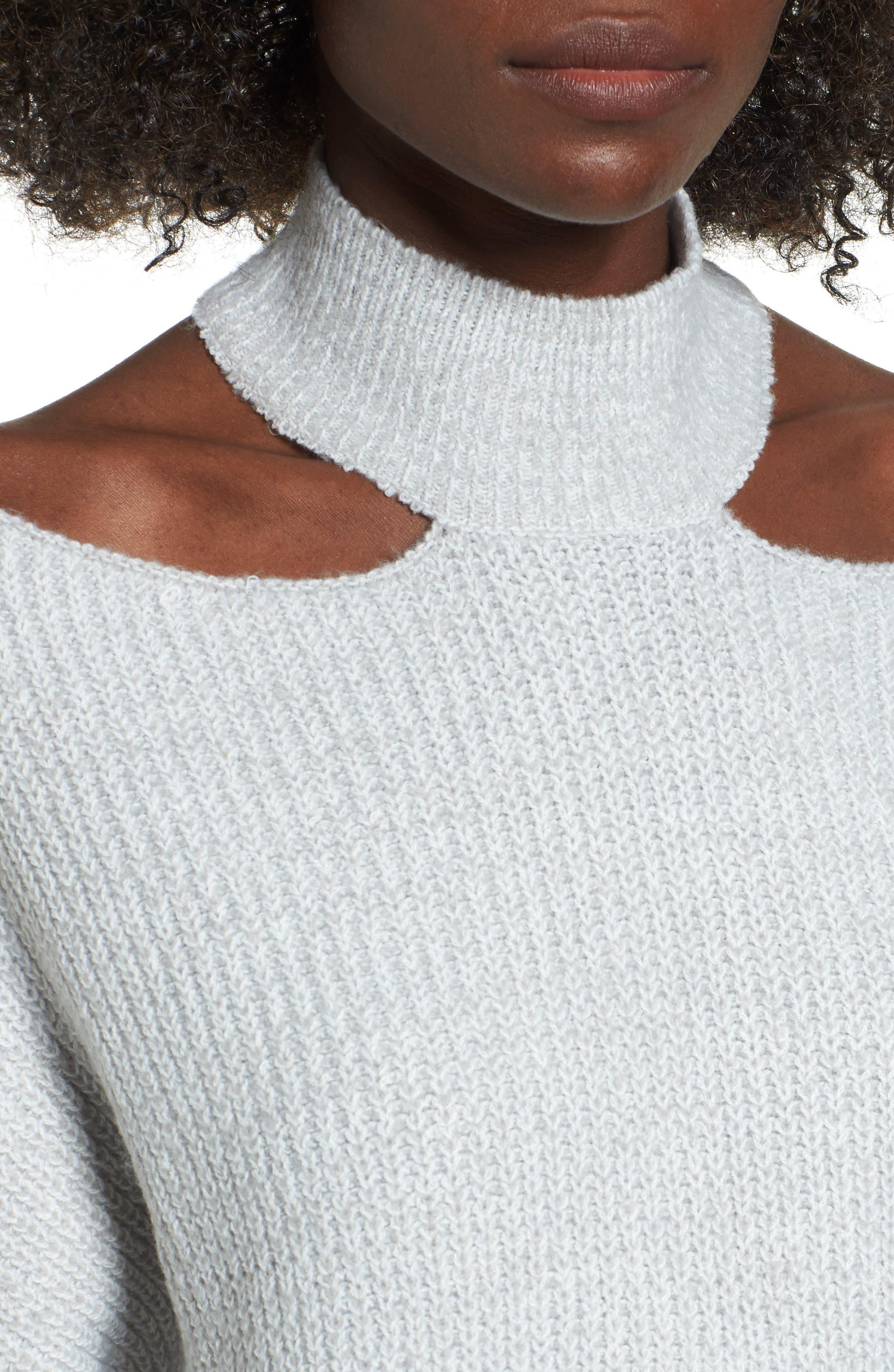 Cutout Turtleneck Sweater,                             Alternate thumbnail 8, color,