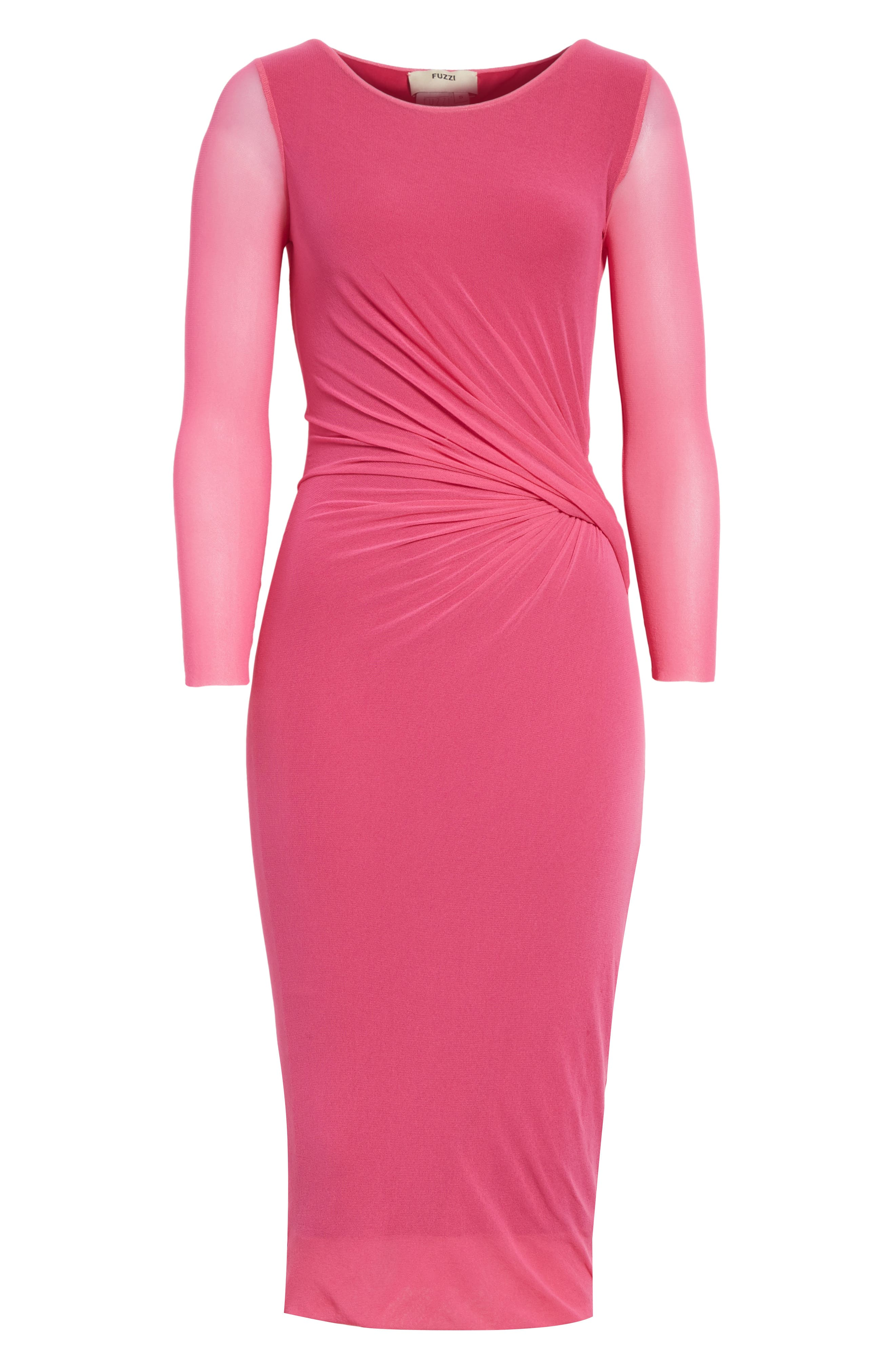 Ruched Tulle Dress,                             Alternate thumbnail 12, color,