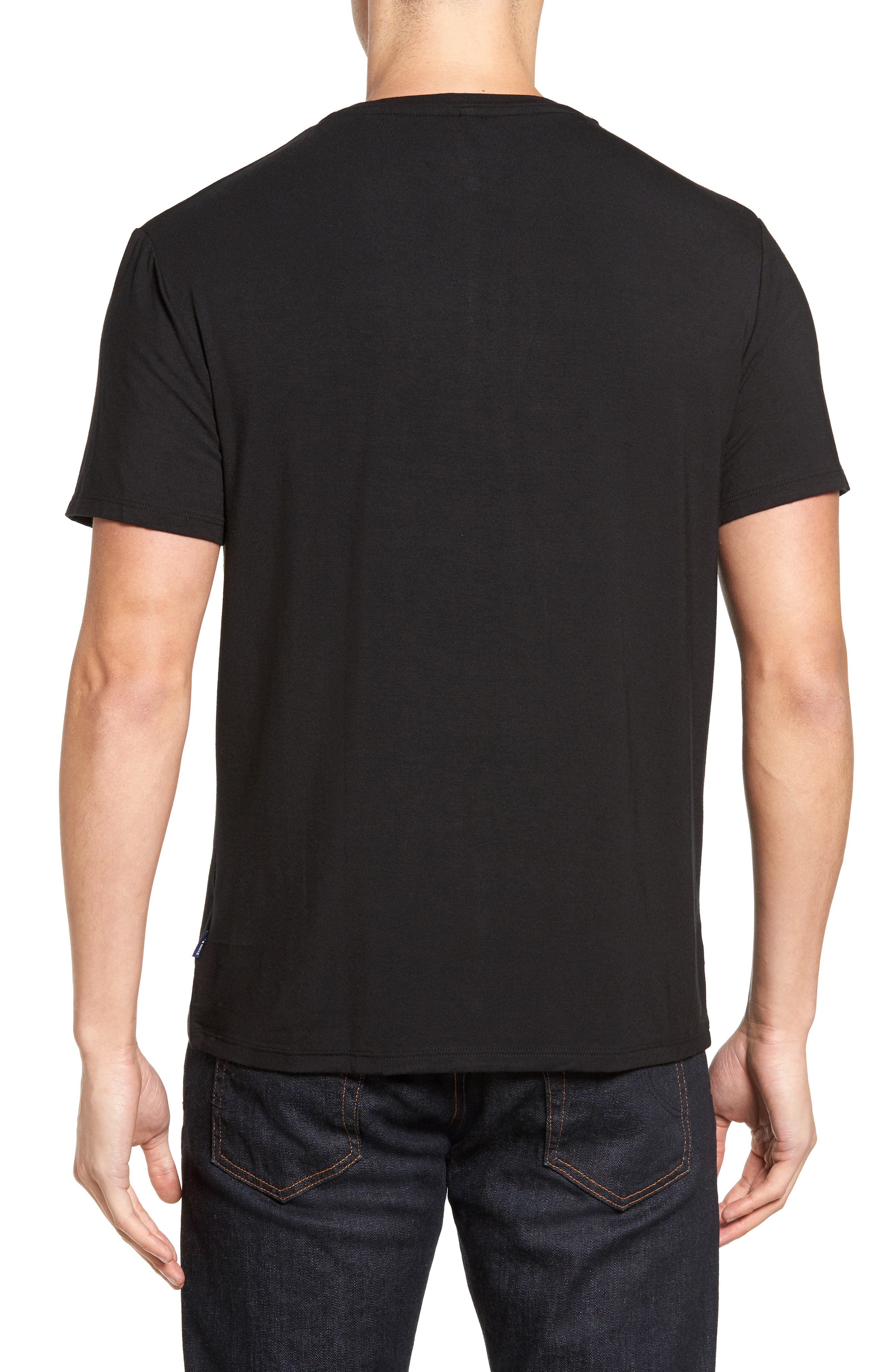 Stretch Modal T-Shirt,                             Alternate thumbnail 2, color,                             001