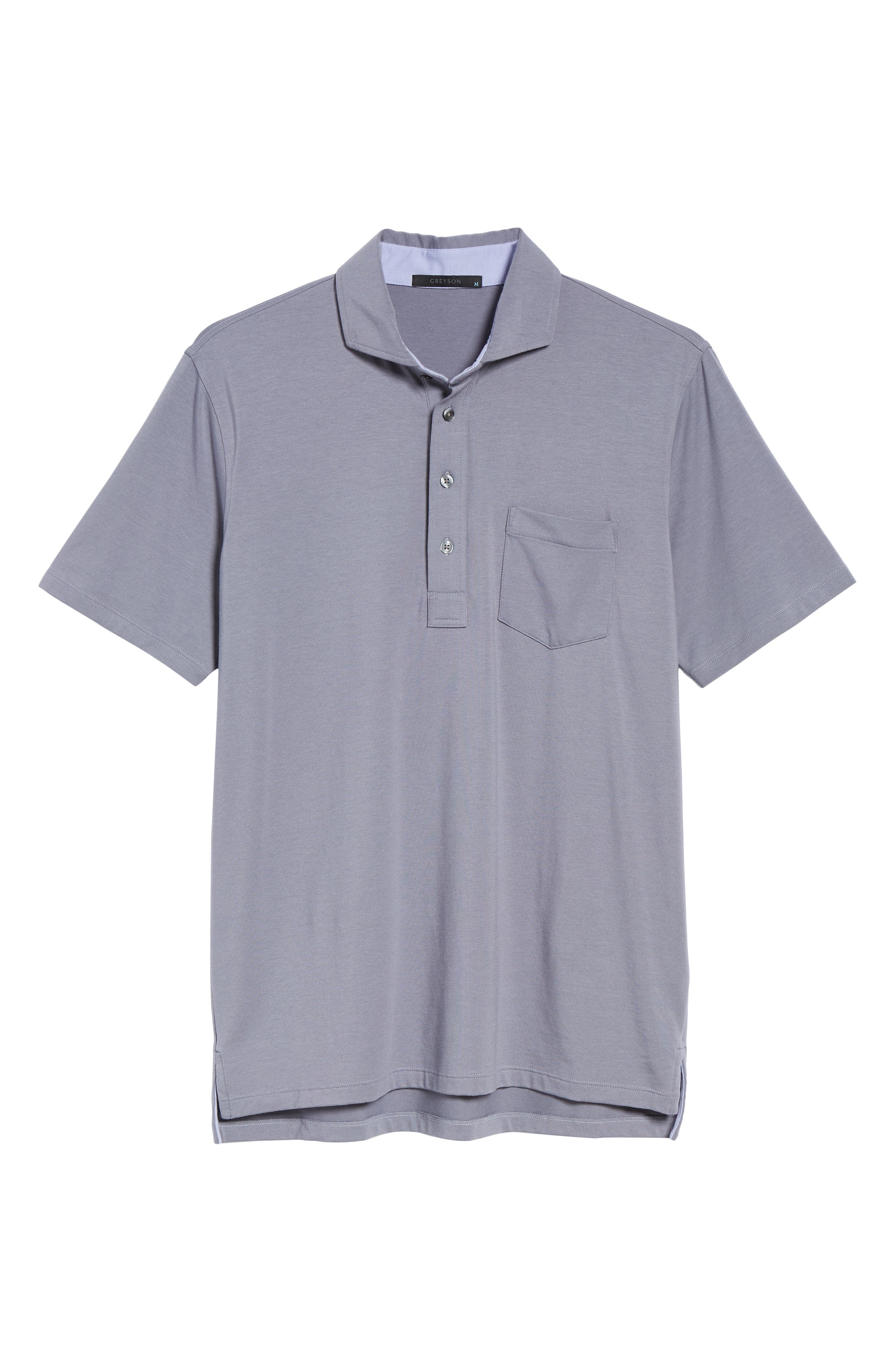Jersey Polo,                             Alternate thumbnail 6, color,                             STORM