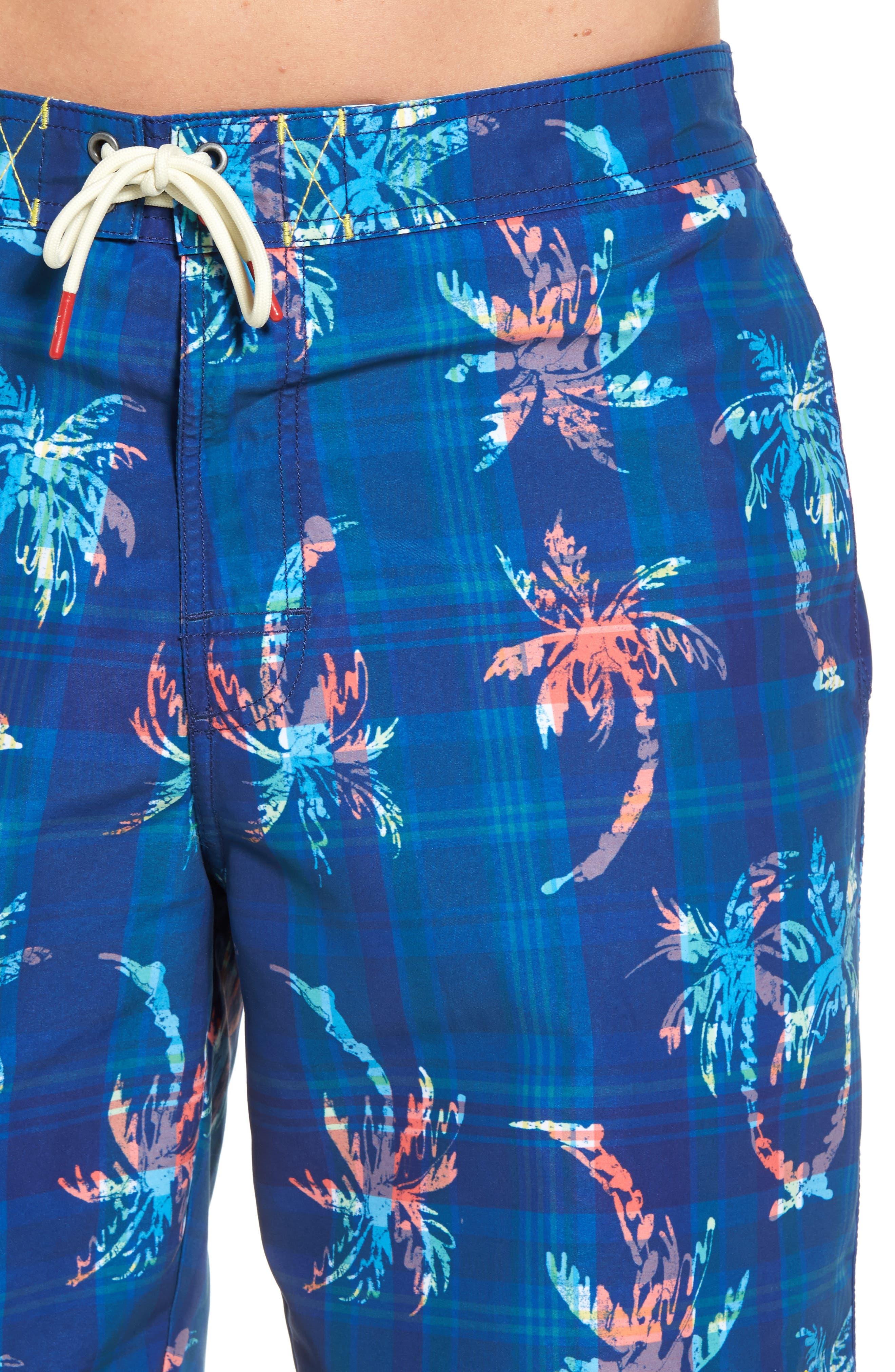 Baja Palm Illusion Swim Trunks,                             Alternate thumbnail 4, color,                             400