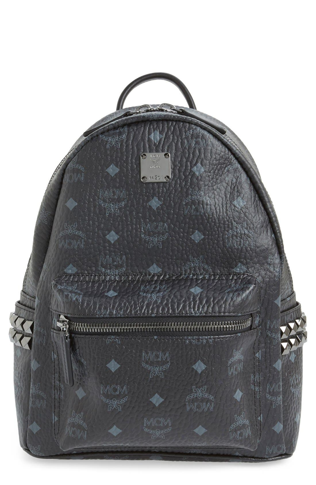 Small Stark Side Stud Backpack,                         Main,                         color, 001